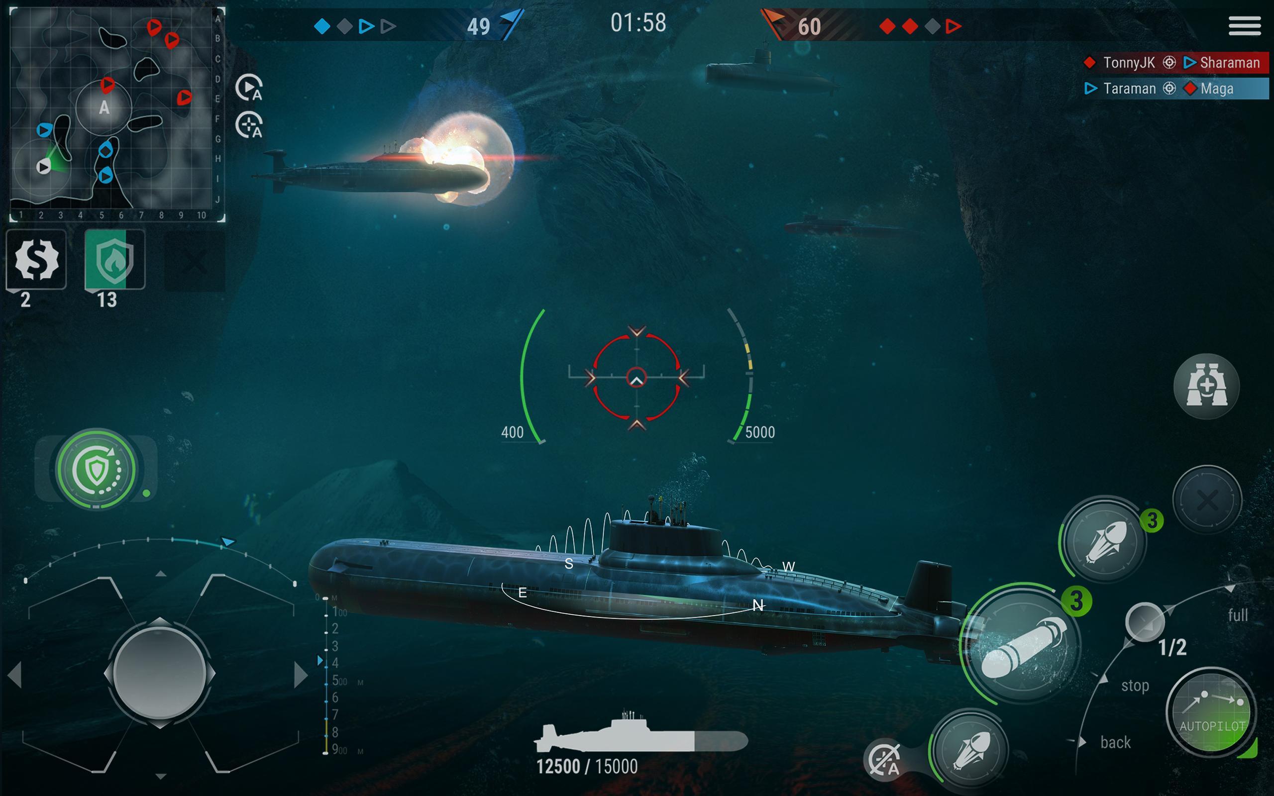 WORLD of SUBMARINES: Navy Shooter 3D Wargame 2.0.4 Screenshot 9