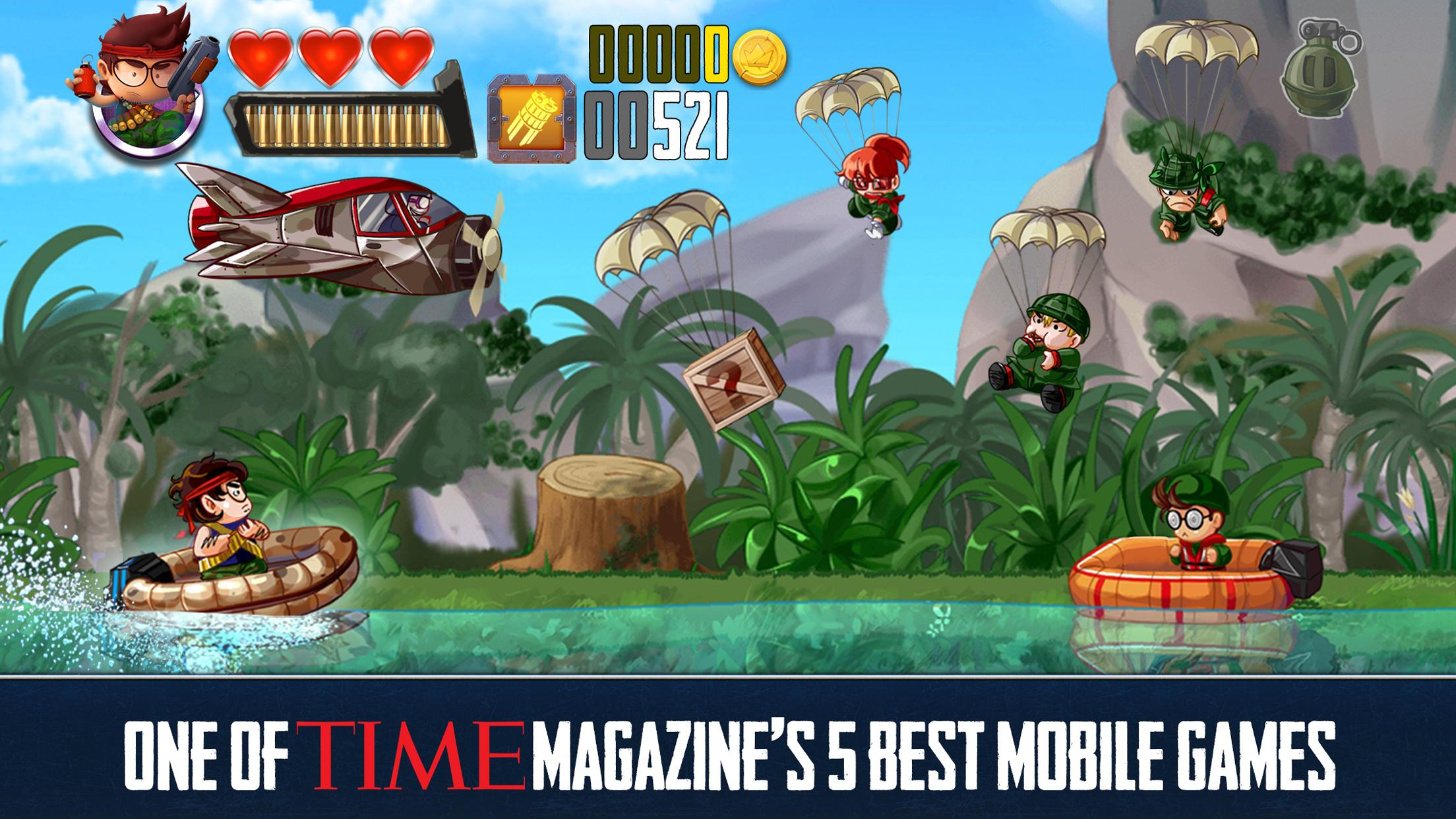 Ramboat Offline Jumping Shooter and Running Game 4.1.5 Screenshot 1
