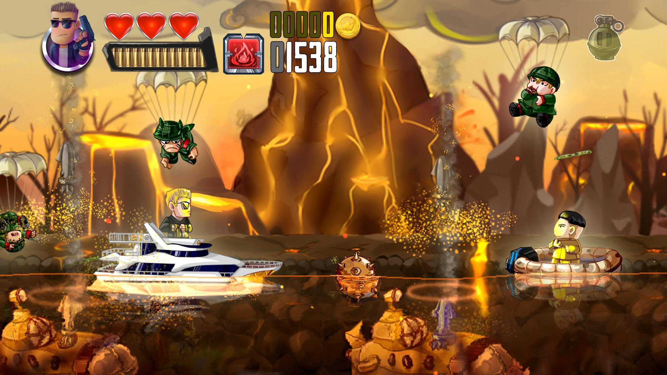 Ramboat Offline Jumping Shooter and Running Game 4.1.5 Screenshot 2