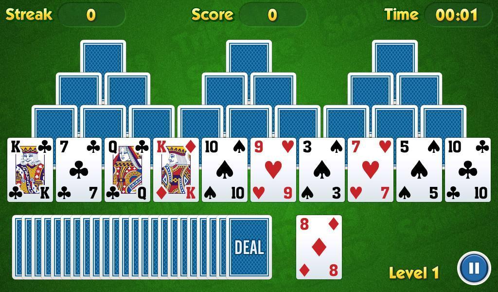 TriPeaks Solitaire Challenge 1.3.15 Screenshot 1