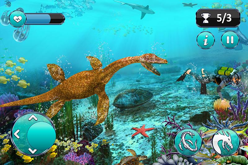Ultimate Sea Dinosaur Monster: Water World Game 1.2 Screenshot 2