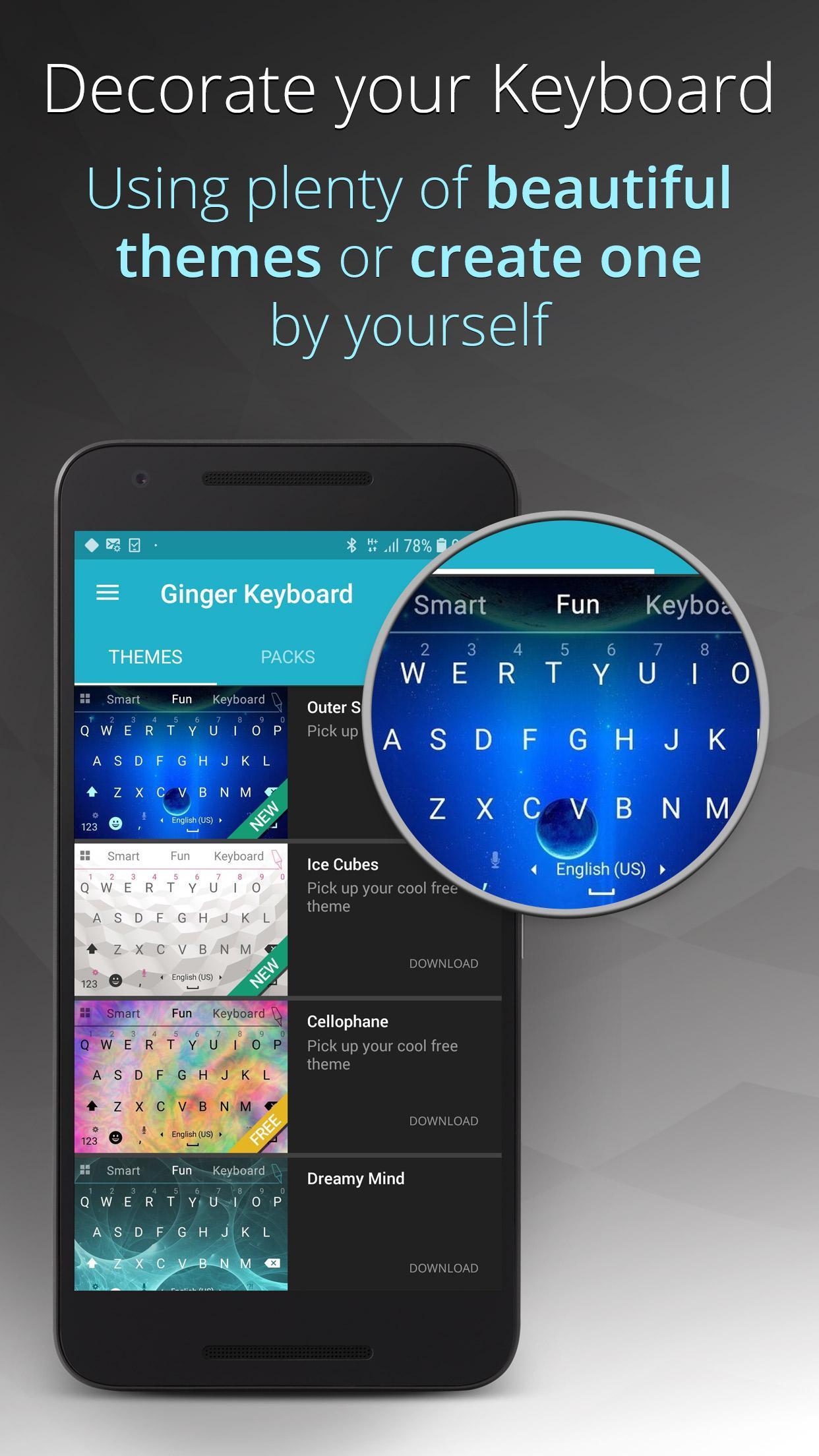 Ginger Keyboard Emoji, GIFs, Themes & Games 9.0.07 Screenshot 6