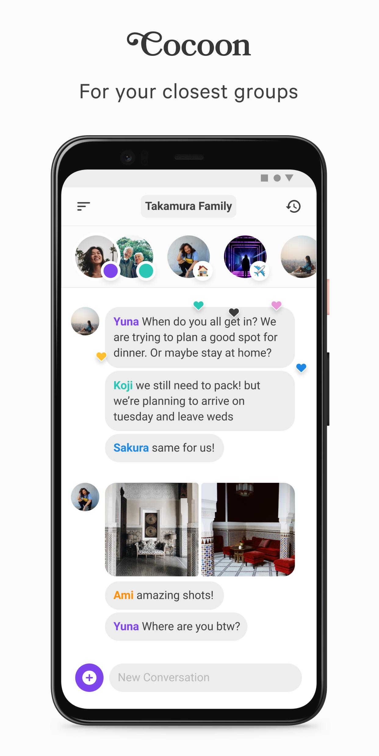 Cocoon Share Privately with Your Closest Groups 1.2.4 Screenshot 1
