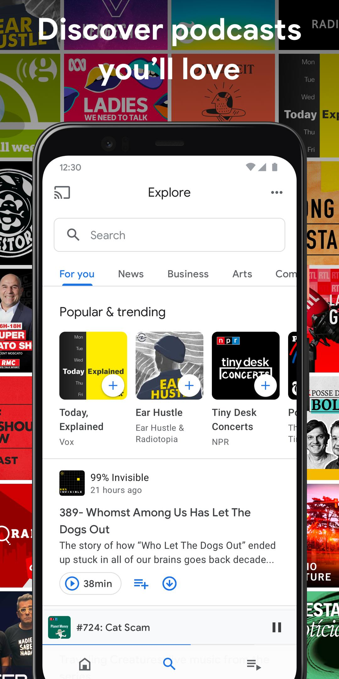 Google Podcasts Discover free & trending podcasts 1.0.0.301897054 Screenshot 2