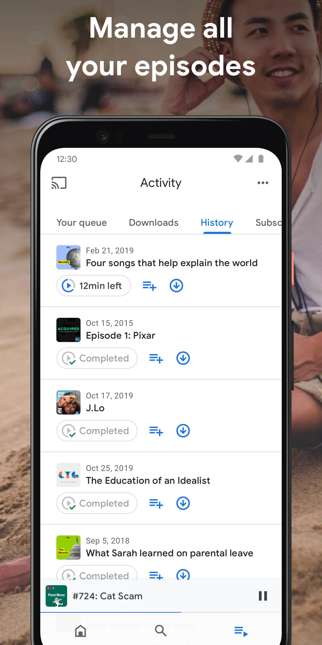 Google Podcasts Discover free & trending podcasts 1.0.0.301897054 Screenshot 3