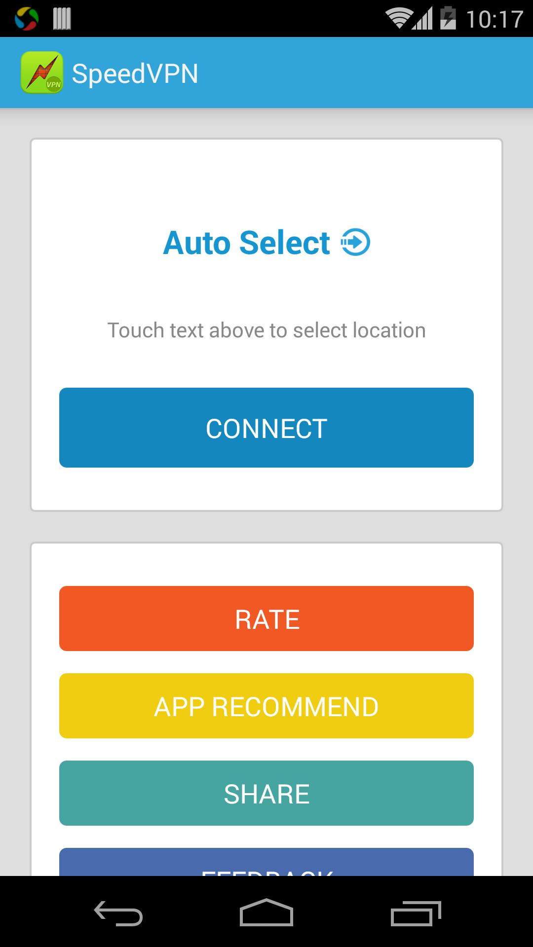 SpeedVPN Free VPN Proxy 1.6.0 Screenshot 1