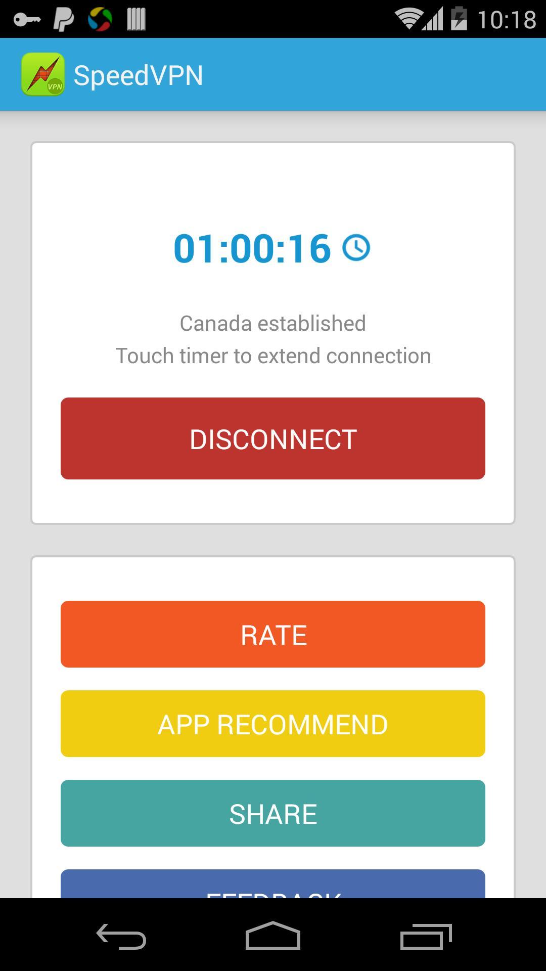 SpeedVPN Free VPN Proxy 1.6.0 Screenshot 5