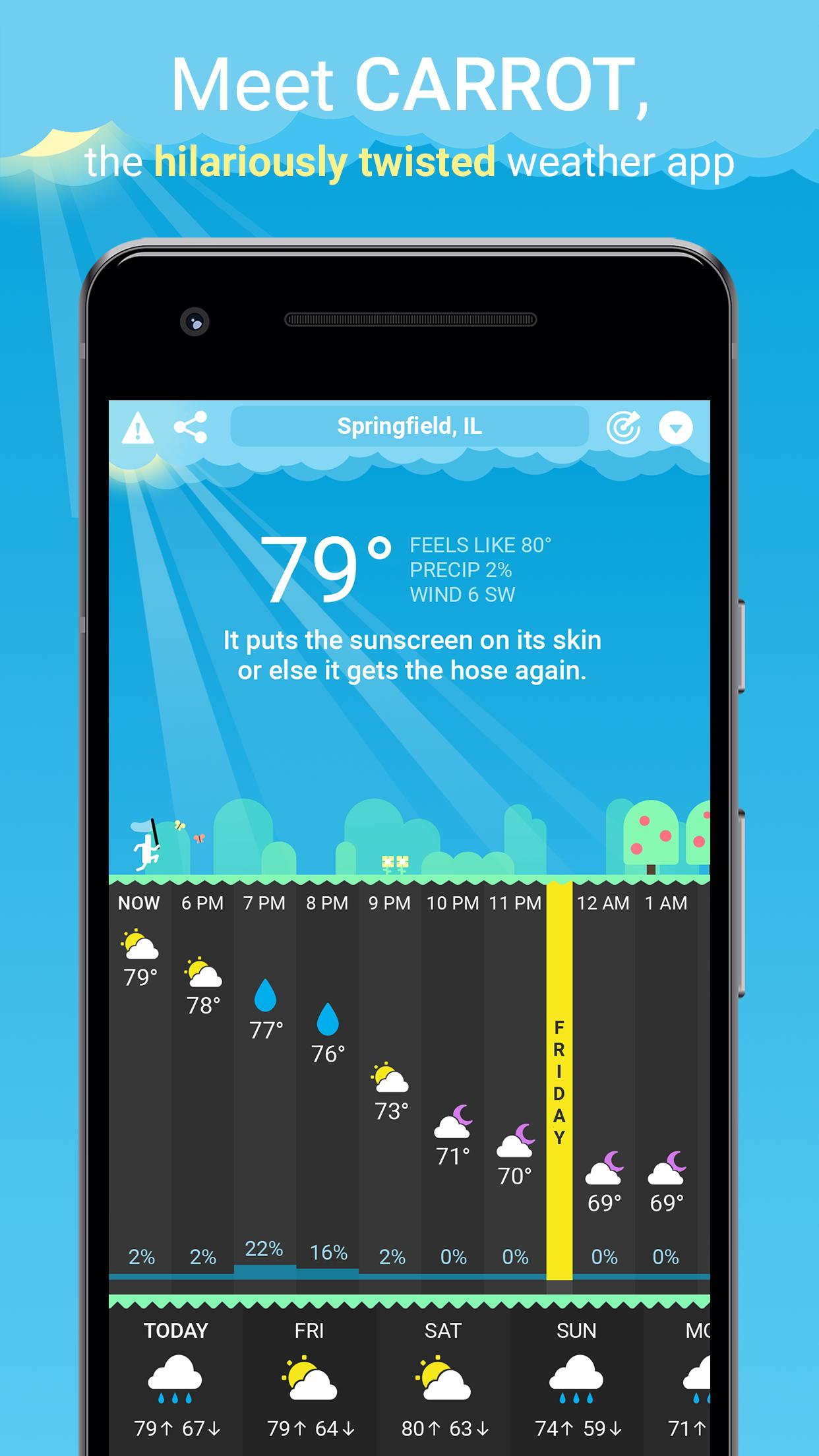 CARROT Weather 1.0.5 Screenshot 1