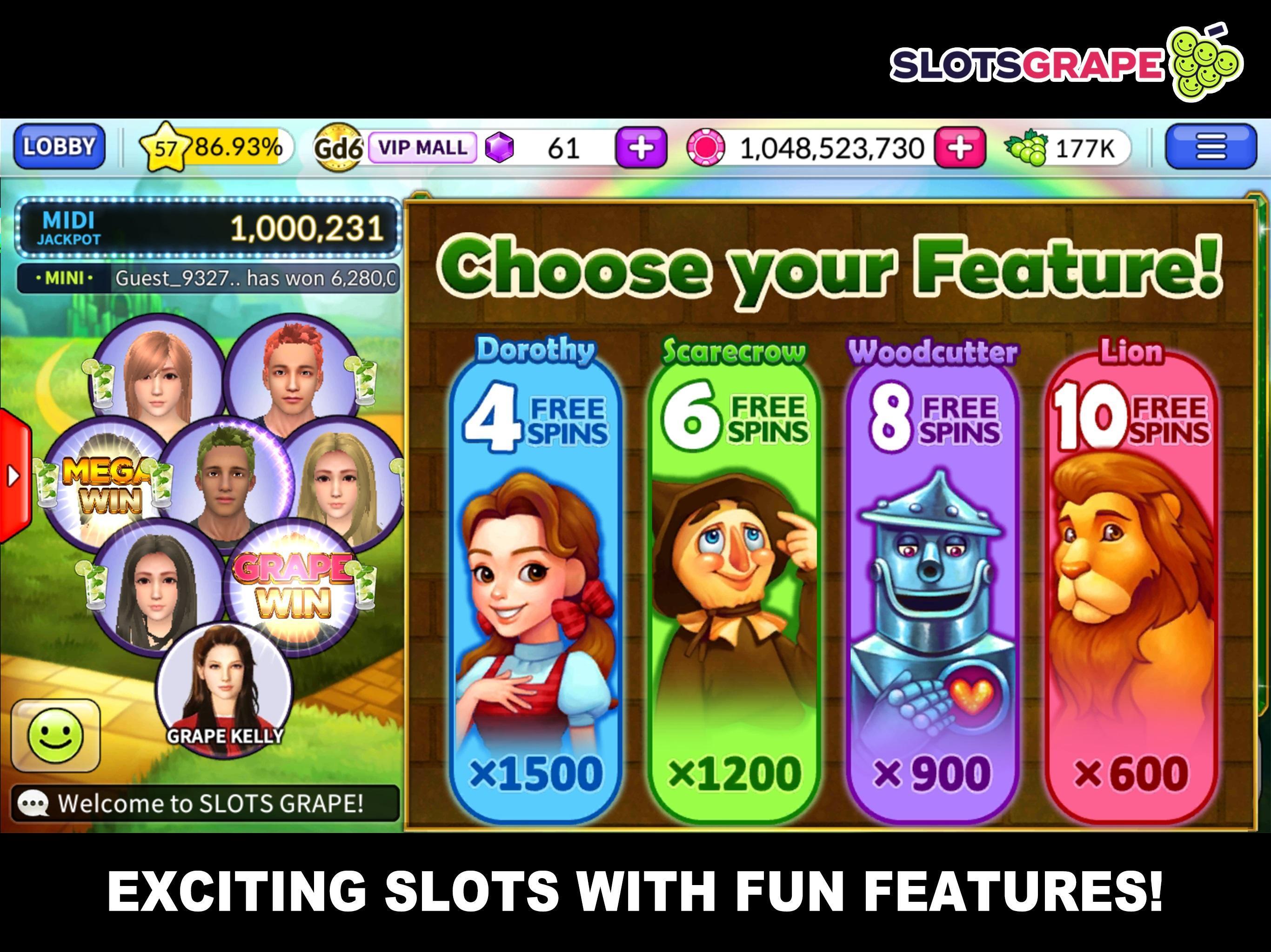 SLOTS GRAPE Free Slots and Table Games 1.0.78 Screenshot 2