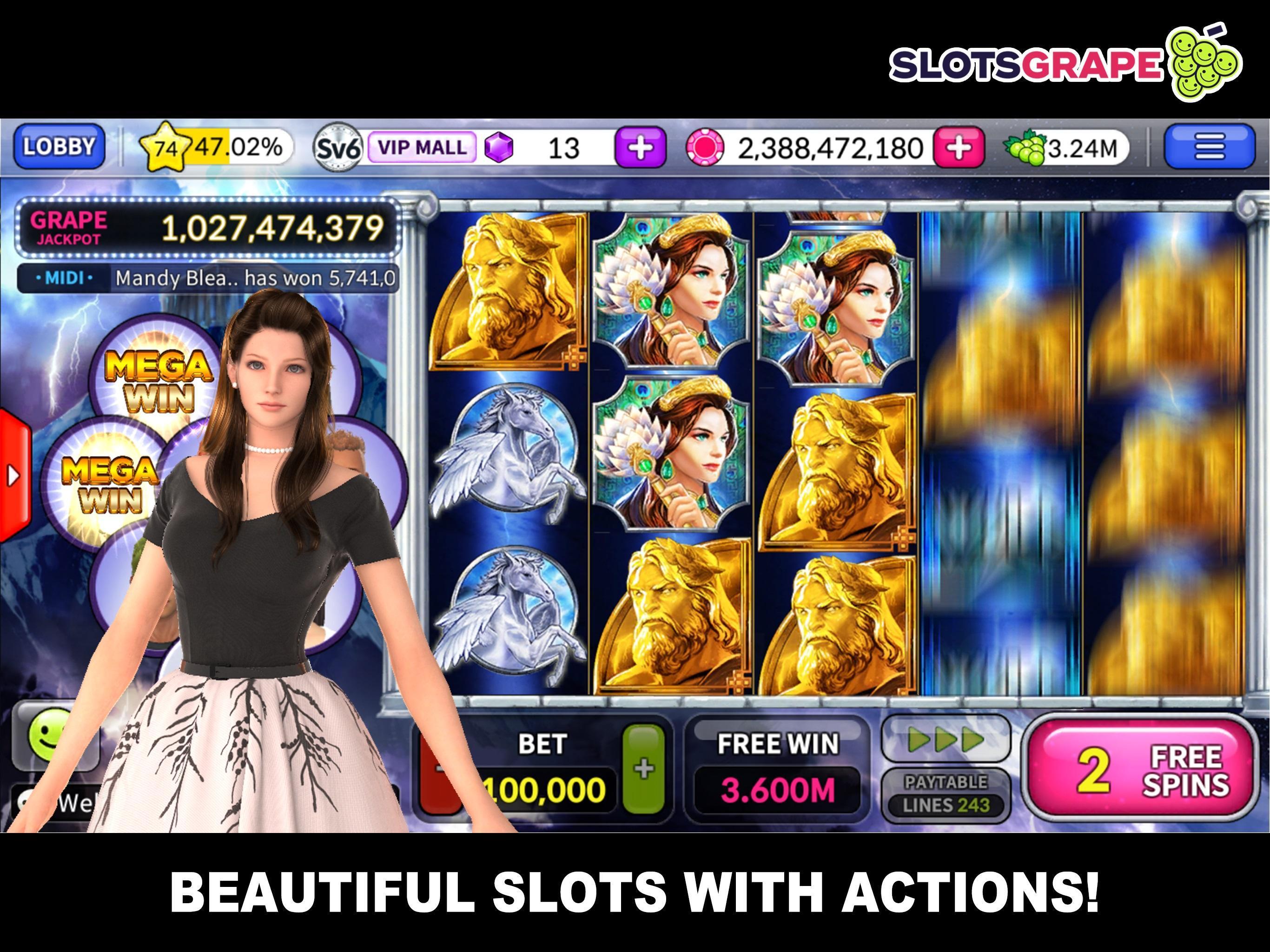 SLOTS GRAPE Free Slots and Table Games 1.0.78 Screenshot 3