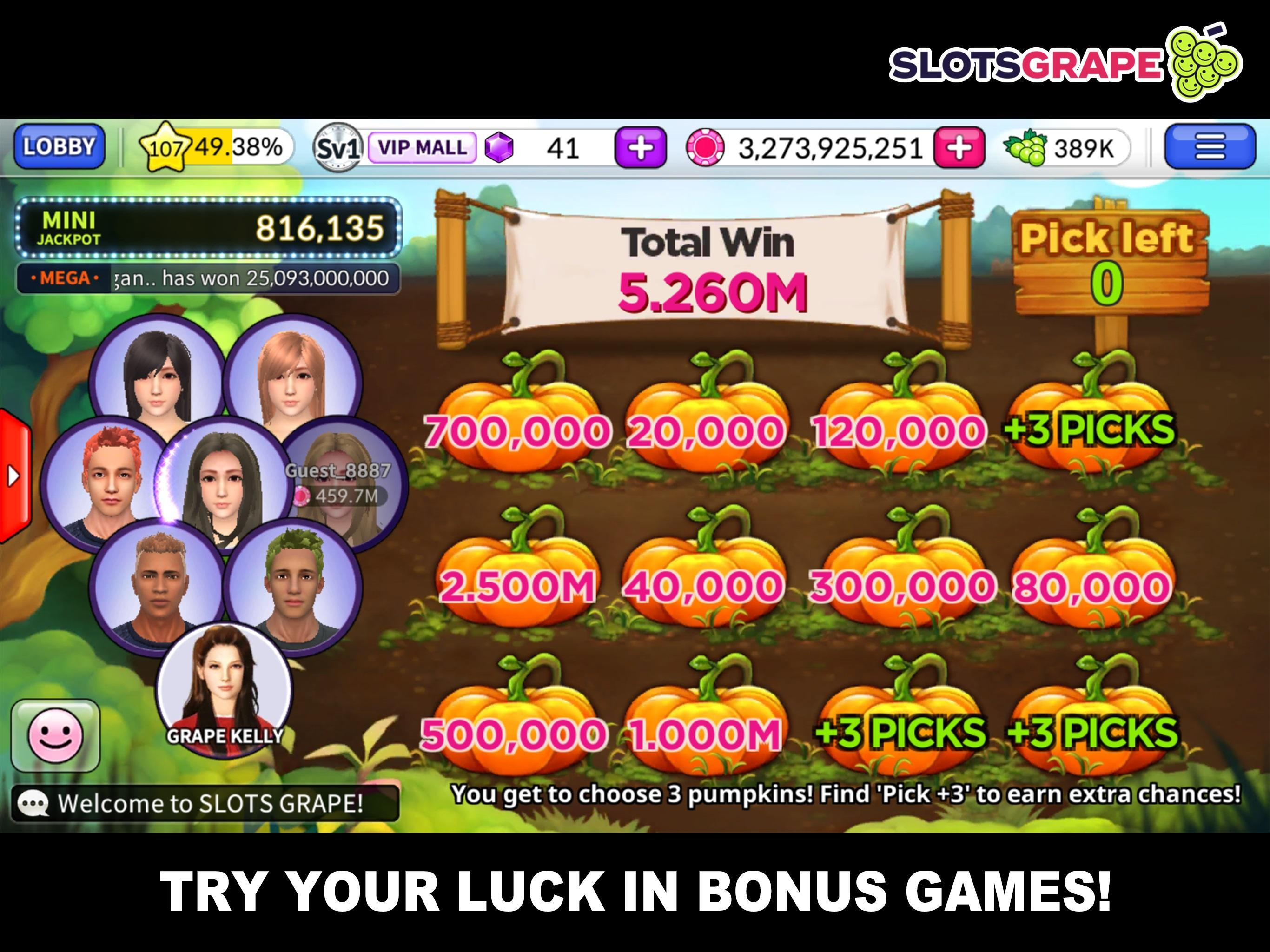 SLOTS GRAPE Free Slots and Table Games 1.0.78 Screenshot 4