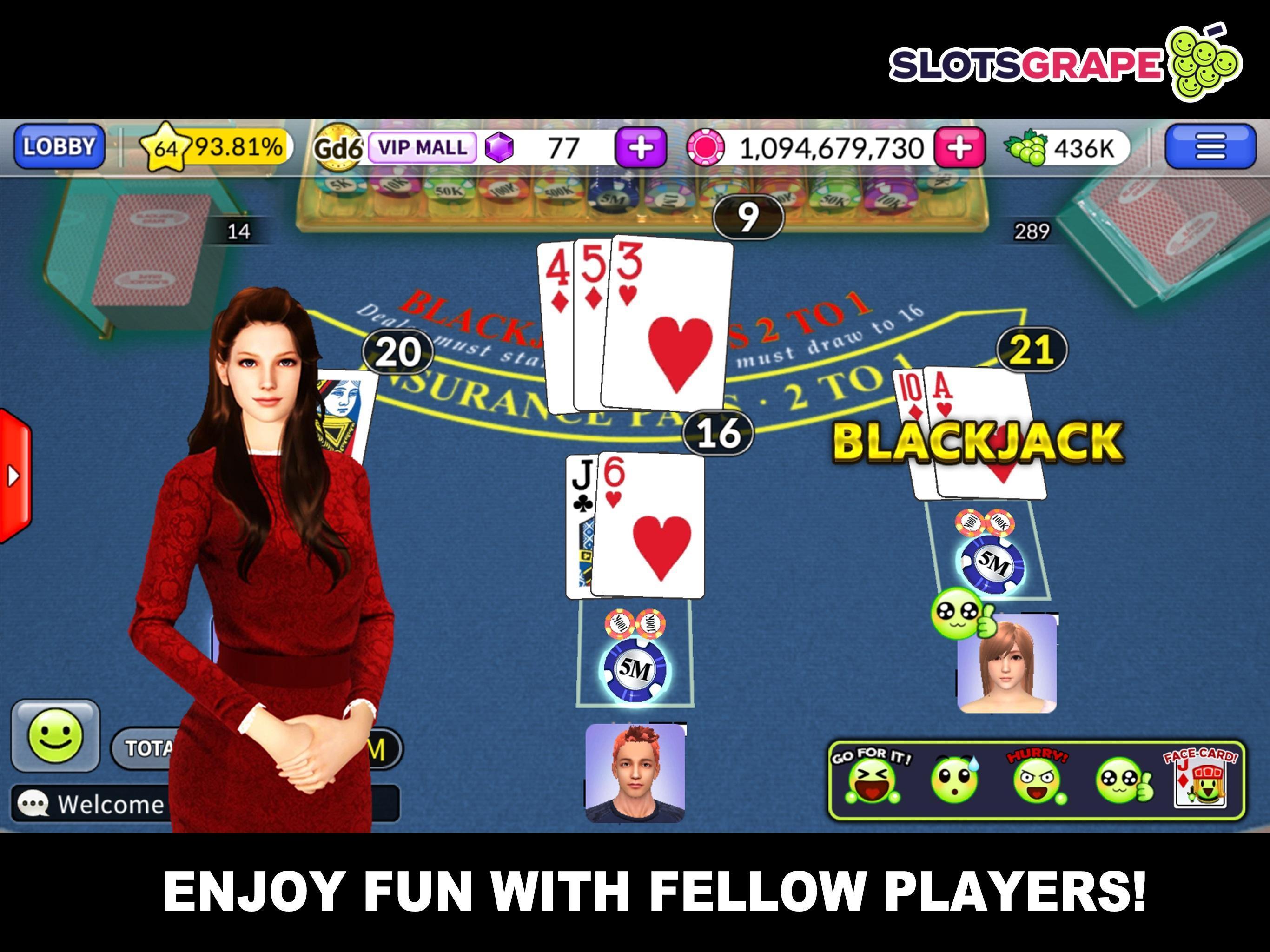 SLOTS GRAPE Free Slots and Table Games 1.0.78 Screenshot 5