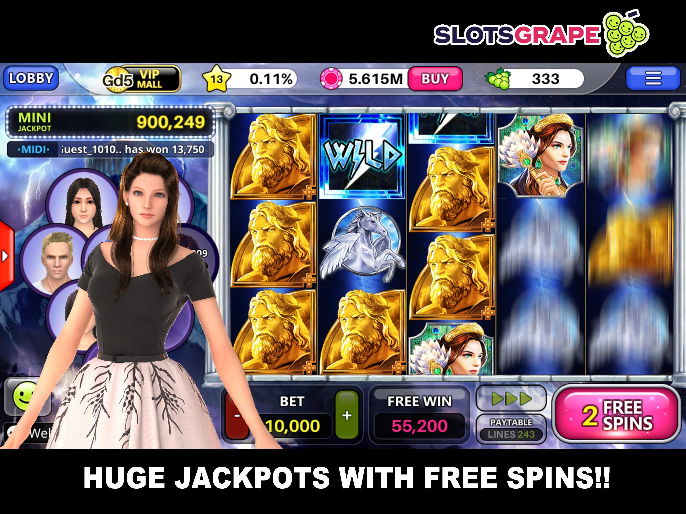 SLOTS GRAPE Free Slots and Table Games 1.0.78 Screenshot 8