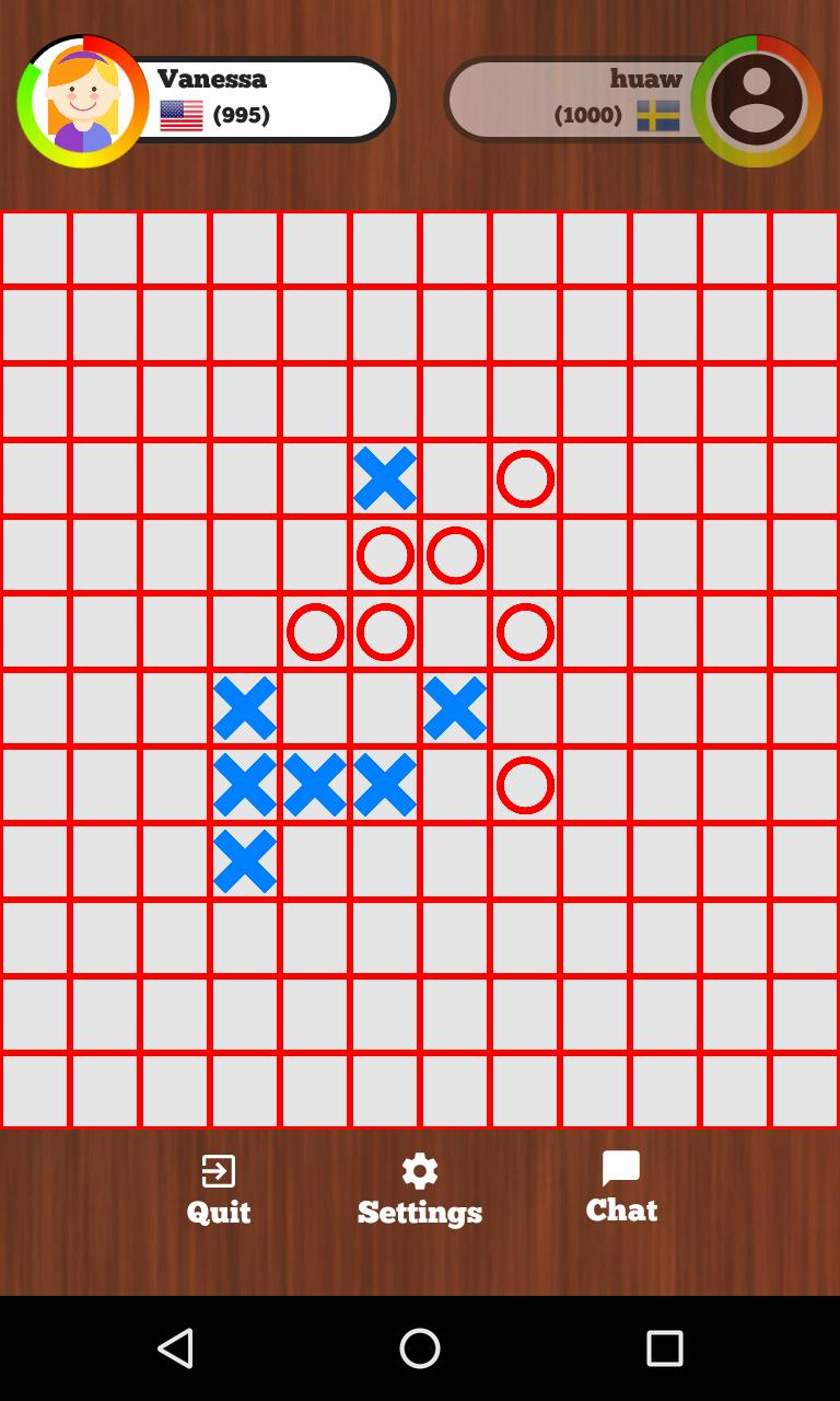 Tic Tac Toe Online - Five in a row 129 Screenshot 1