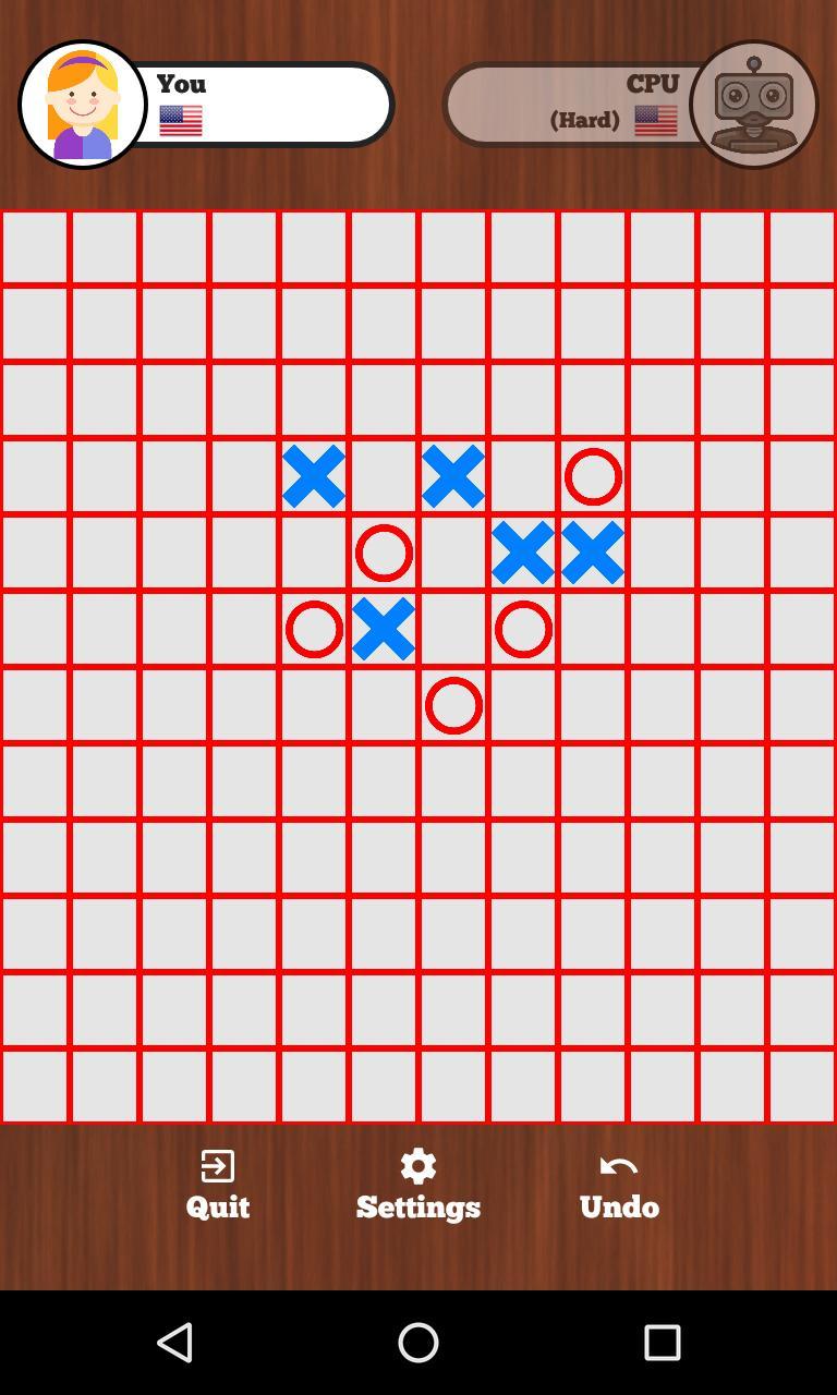 Tic Tac Toe Online - Five in a row 129 Screenshot 7
