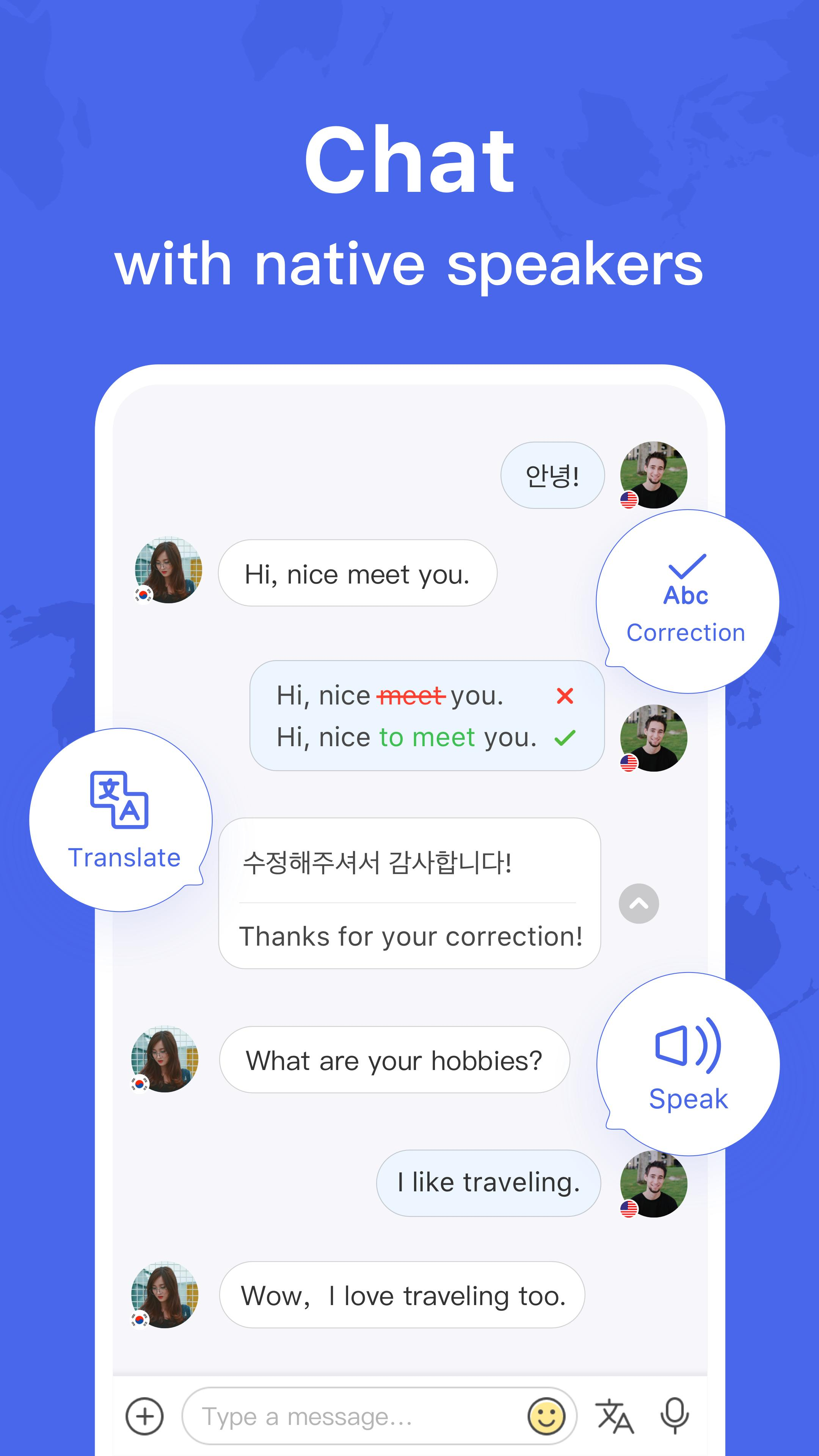 HelloTalk — Chat, Speak & Learn Foreign Languages 4.1.7 Screenshot 1