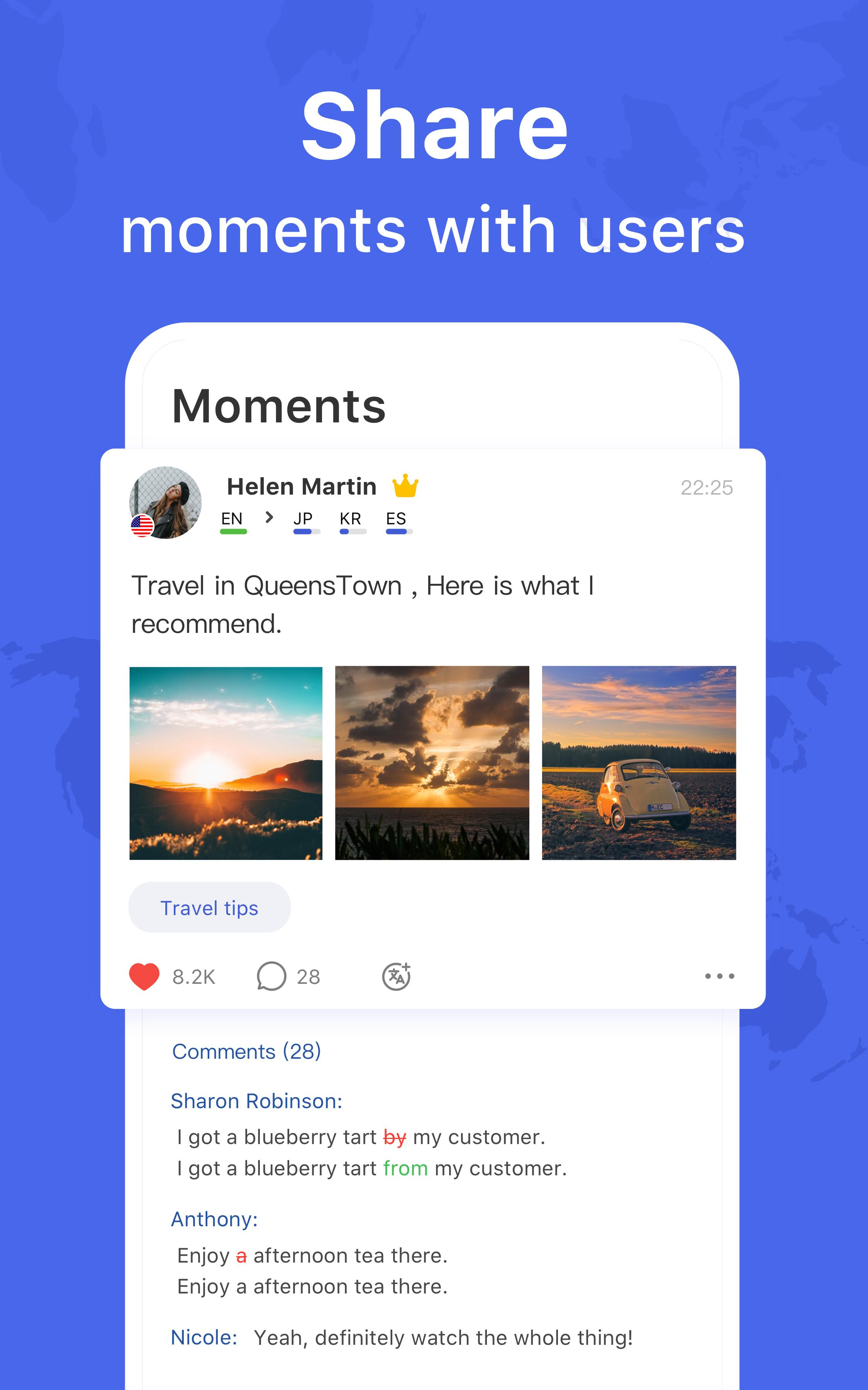 HelloTalk — Chat, Speak & Learn Foreign Languages 4.1.7 Screenshot 13