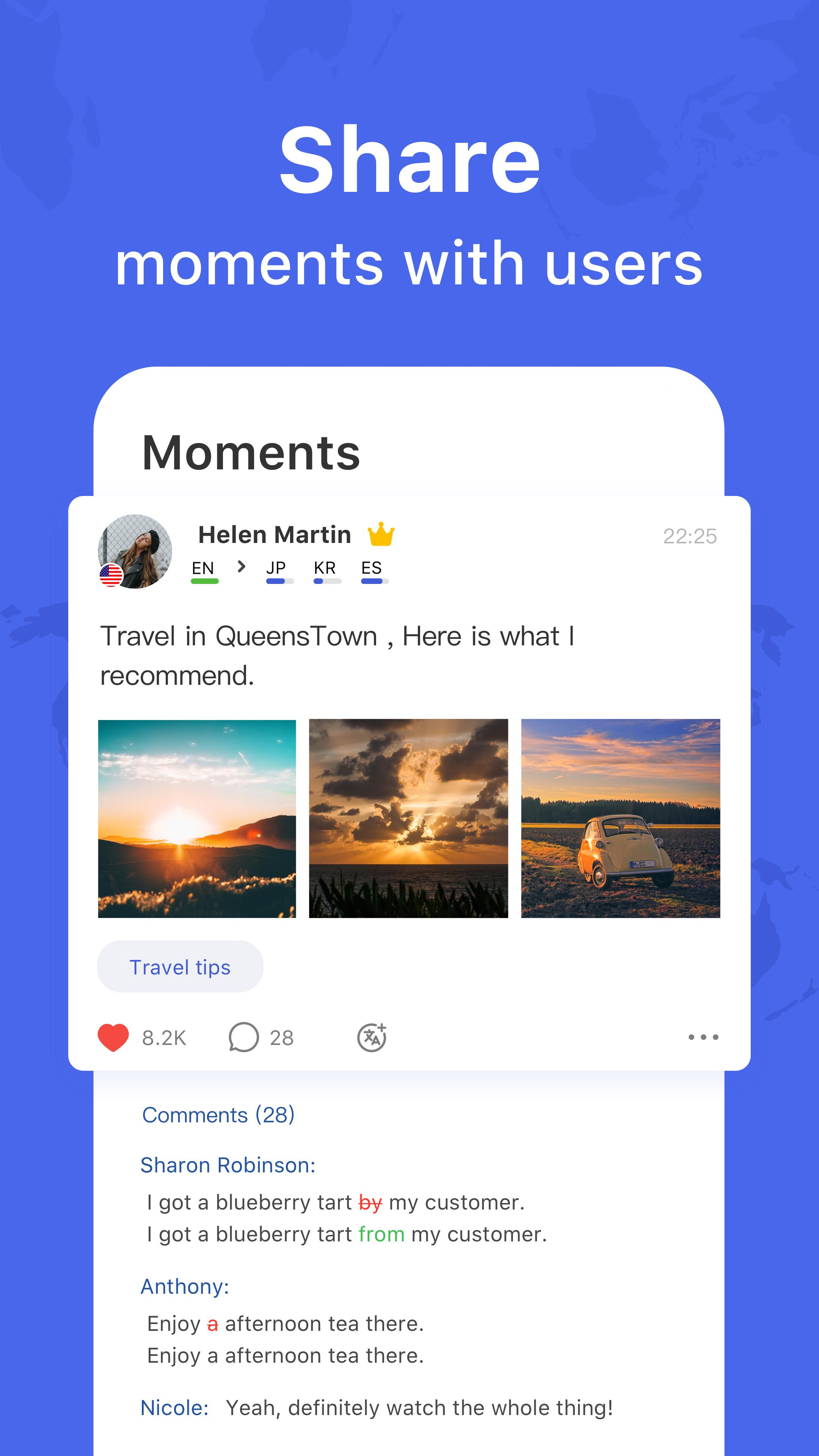 HelloTalk — Chat, Speak & Learn Foreign Languages 4.1.7 Screenshot 2