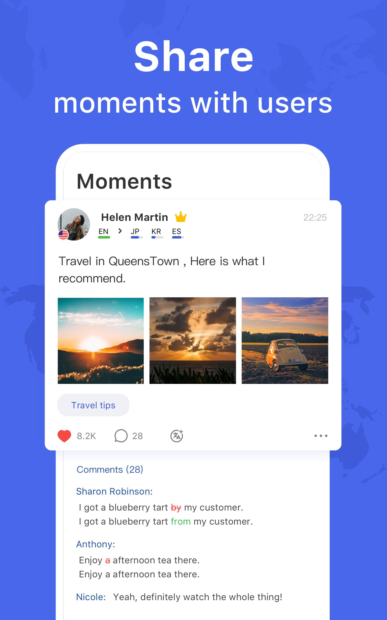 HelloTalk — Chat, Speak & Learn Foreign Languages 4.1.7 Screenshot 8