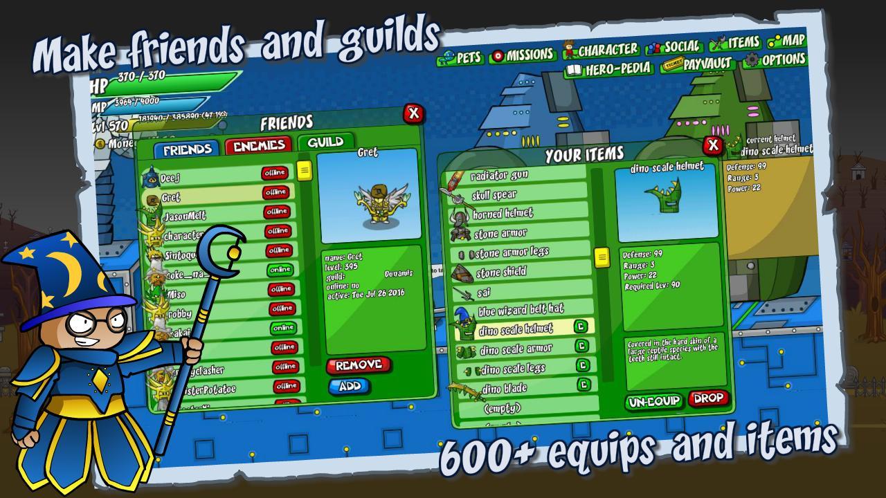 Helmet Heroes MMORPG - Heroic Crusaders RPG Quest 10.6 Screenshot 2