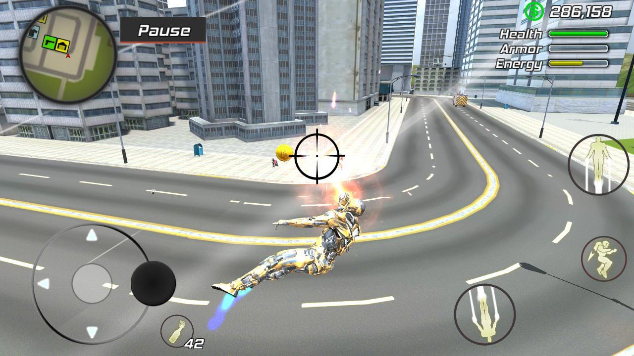 Super Crime Steel War Hero Iron Flying Mech Robot 1.1.7 Screenshot 6
