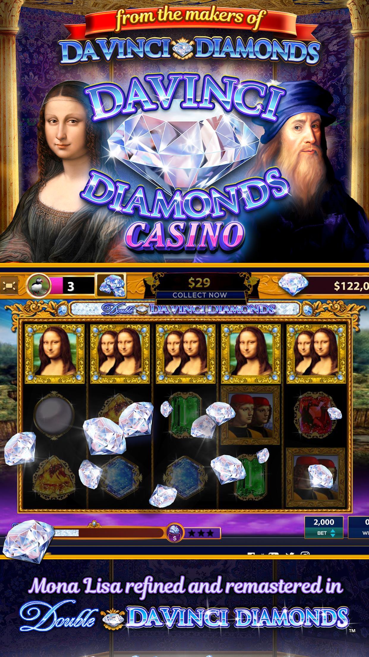 Da Vinci Diamonds Casino – Best Free Slot Machines 3.0.5 Screenshot 1