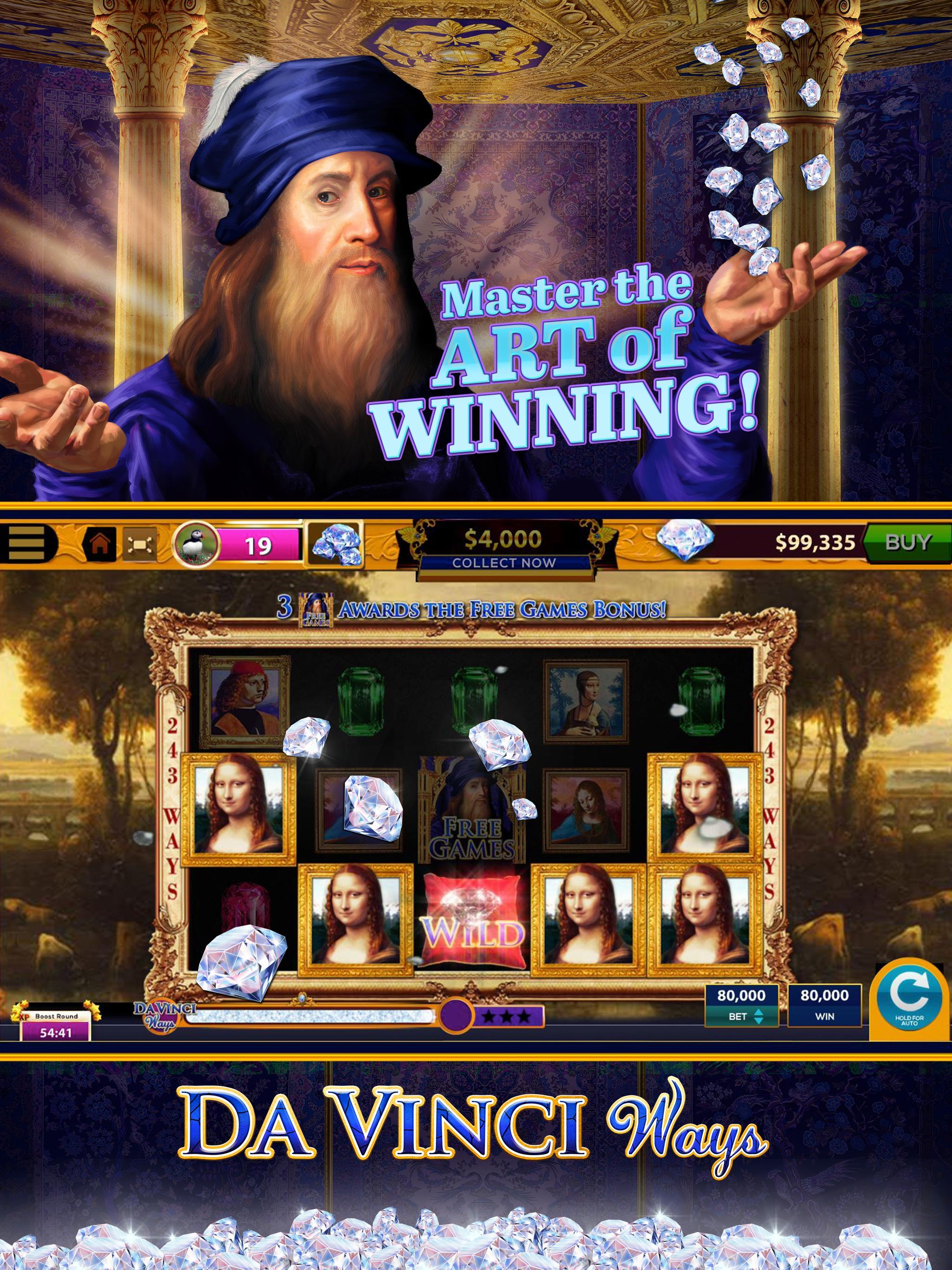 Da Vinci Diamonds Casino – Best Free Slot Machines 3.0.5 Screenshot 12