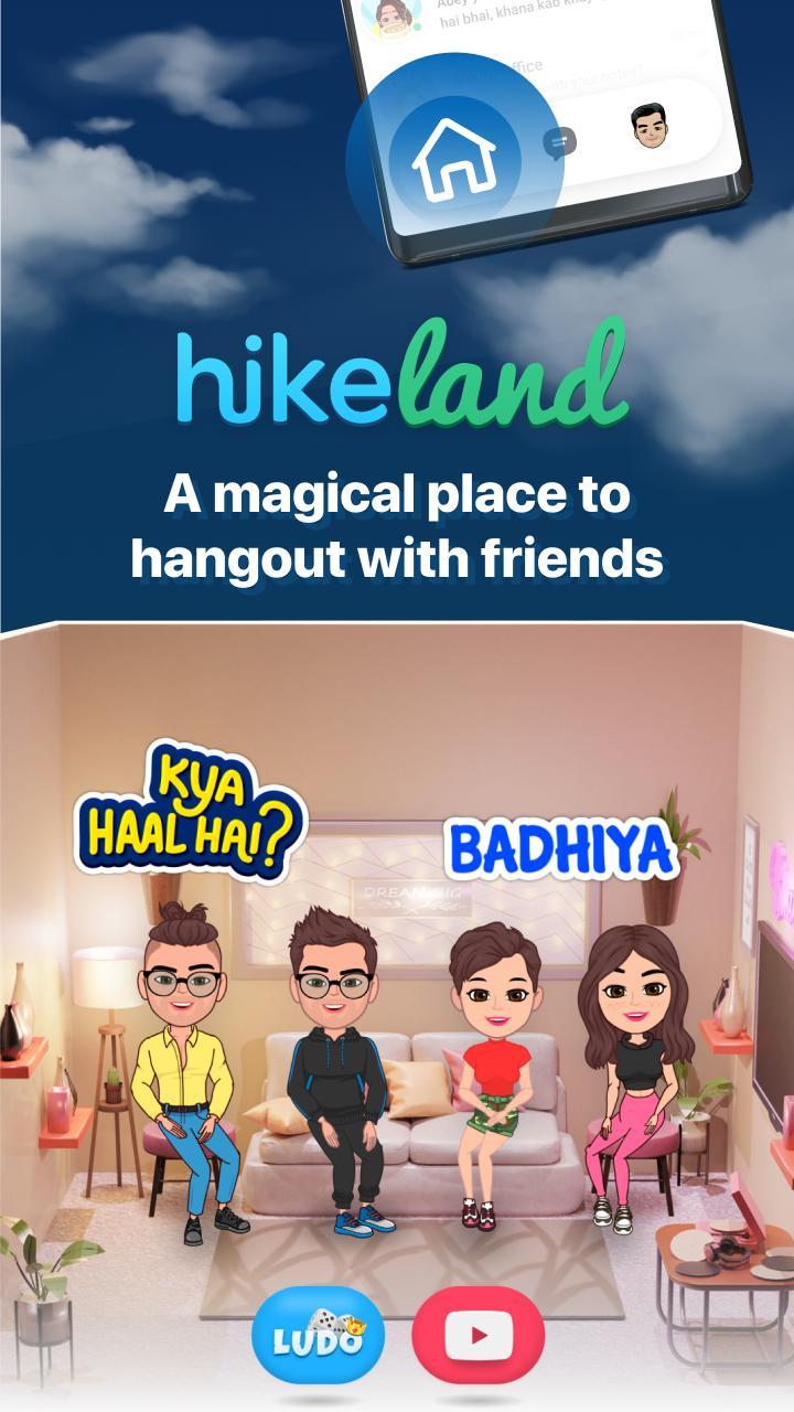 Hike Sticker Chat - Fun & Expressive Messaging 6.3.90 Screenshot 1