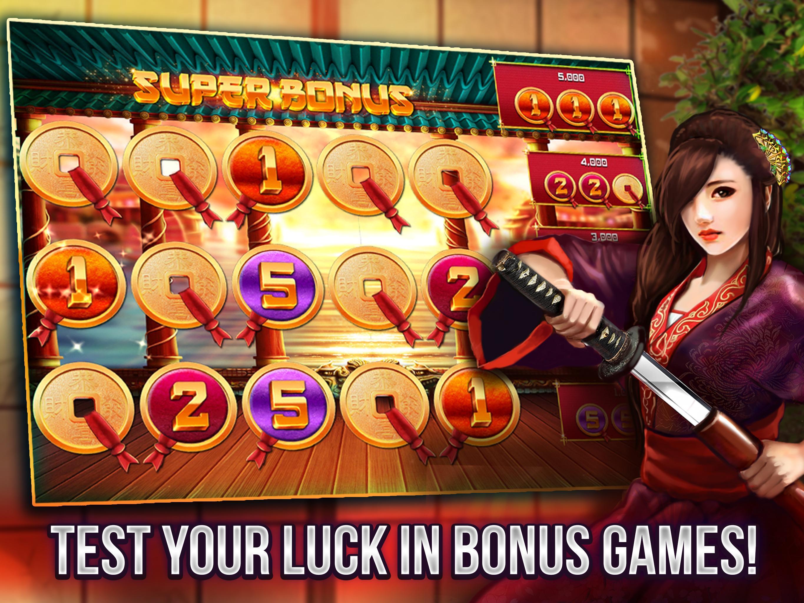 Free Vegas Casino Slots - Samurai 2.8.3600 Screenshot 3