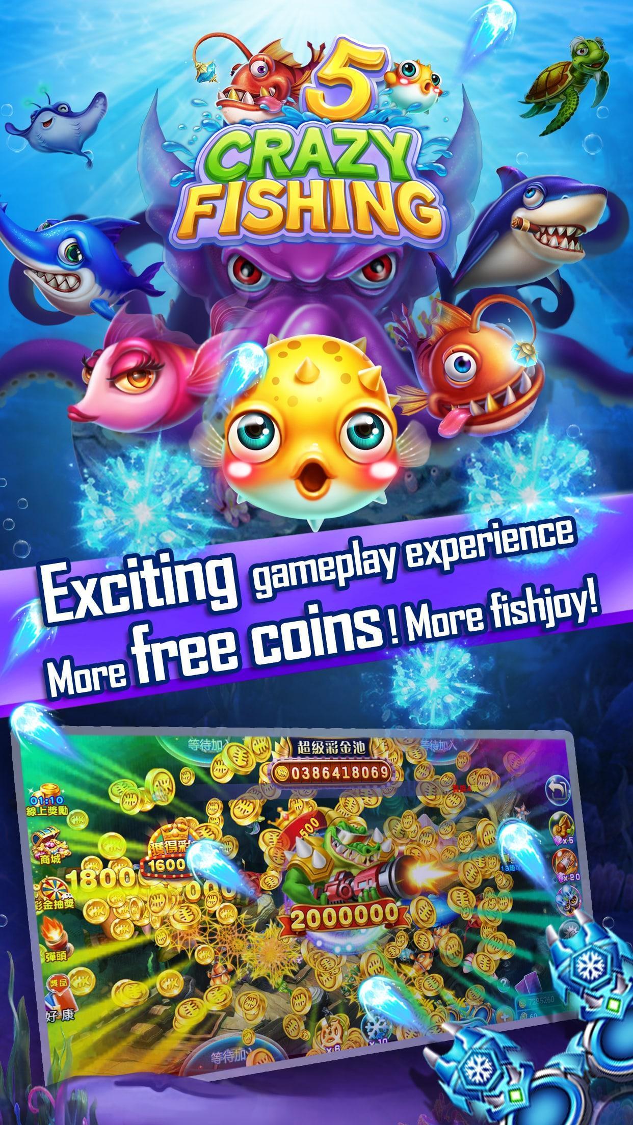 Crazyfishing 5- 2020 Arcade Fishing Game 1.0.3.10 Screenshot 3
