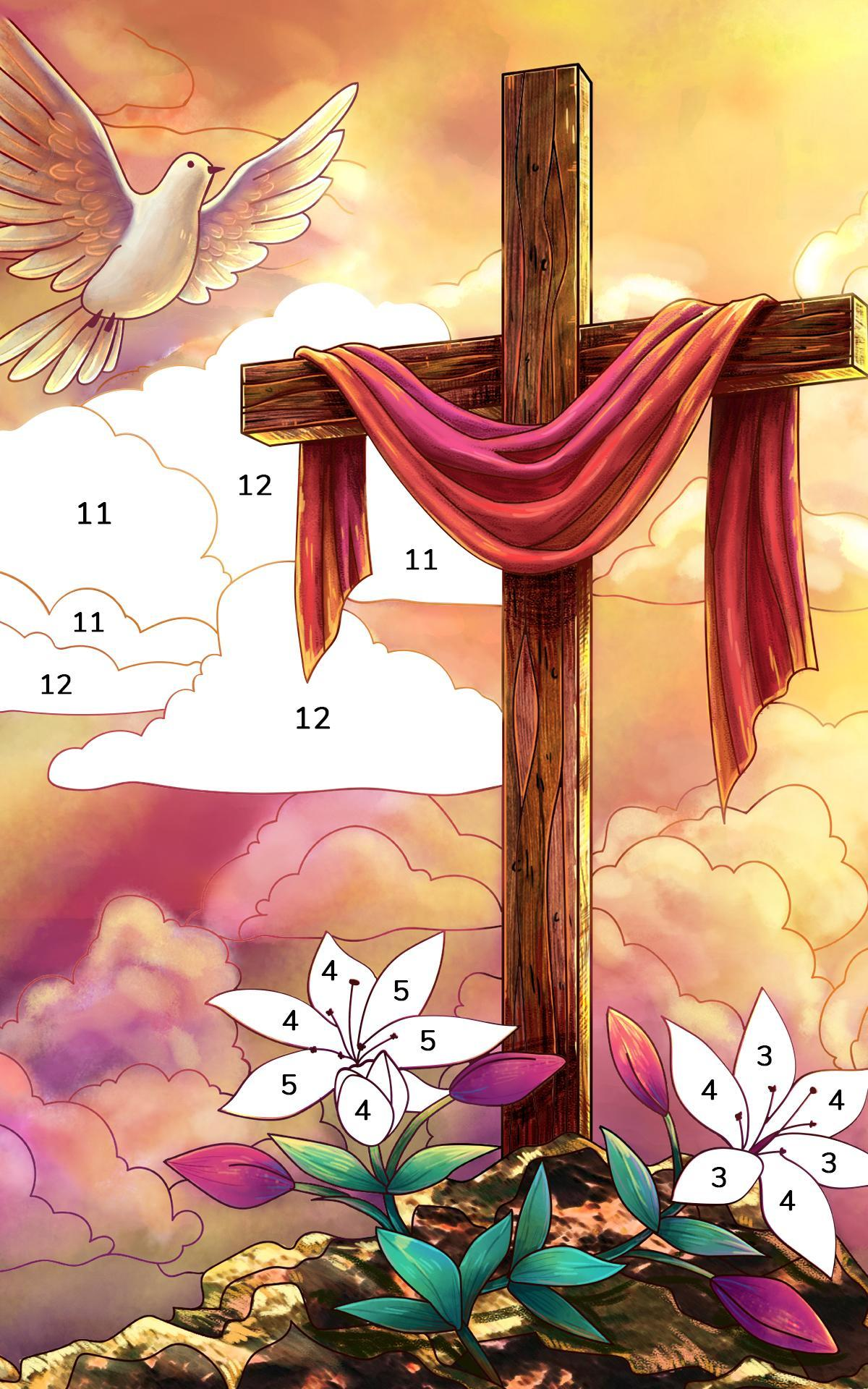 Bible Coloring Paint by Number, Free Bible Games 2.1.14 Screenshot 10