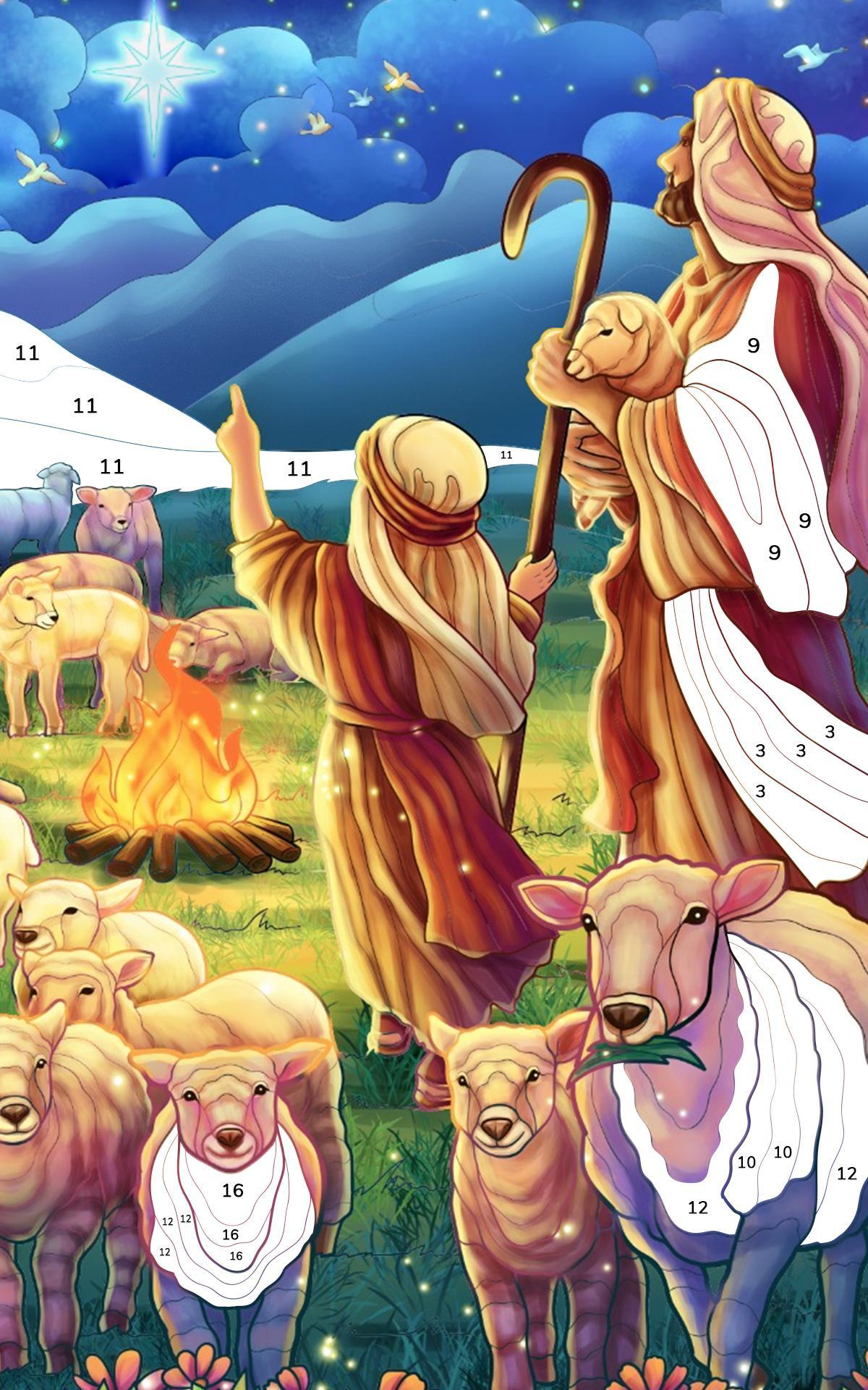 Bible Coloring Paint by Number, Free Bible Games 2.1.14 Screenshot 12