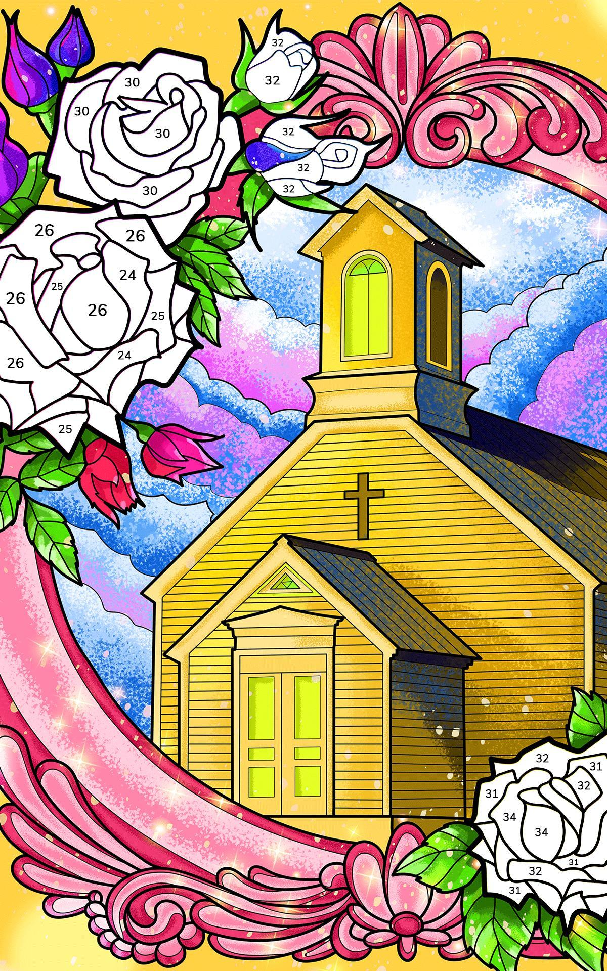 Bible Coloring Paint by Number, Free Bible Games 2.1.14 Screenshot 15