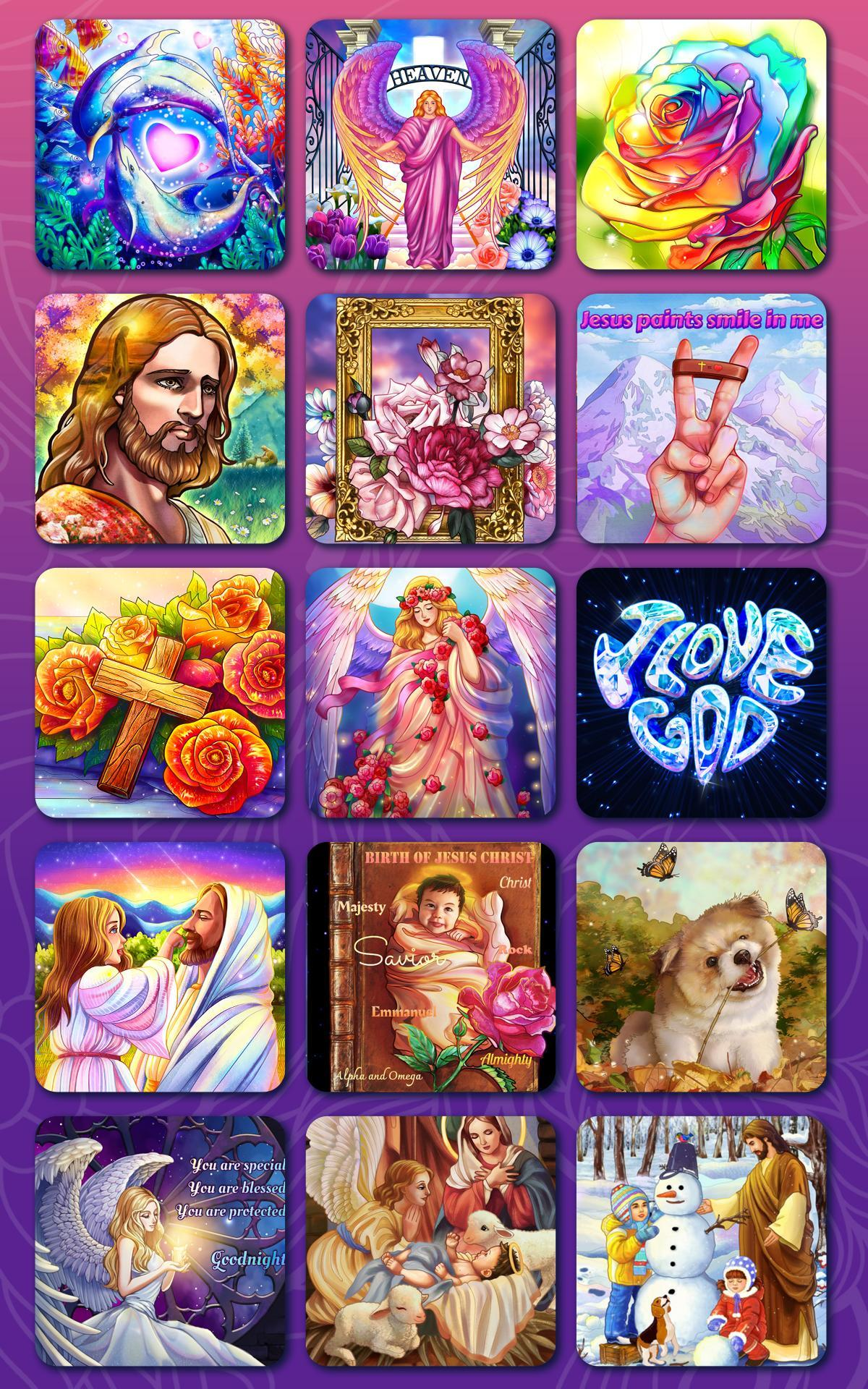Bible Coloring Paint by Number, Free Bible Games 2.1.14 Screenshot 16