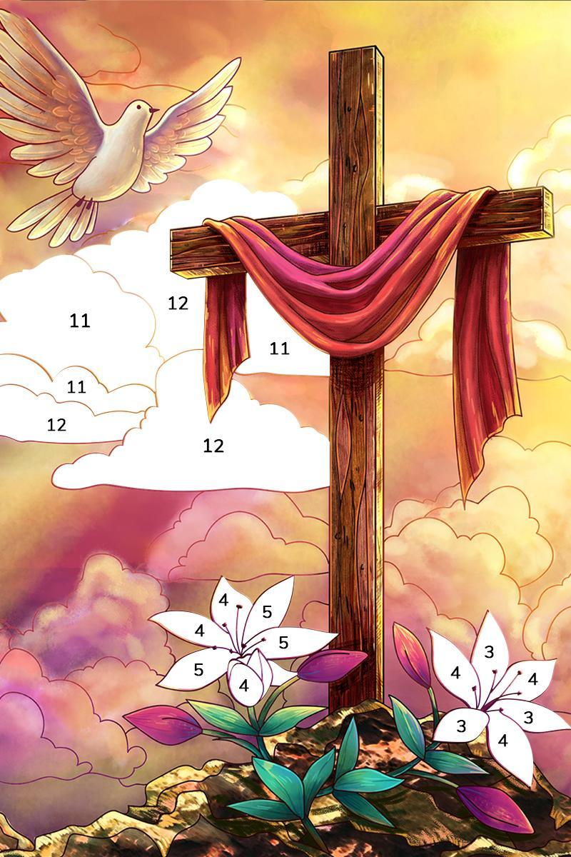 Bible Coloring Paint by Number, Free Bible Games 2.1.14 Screenshot 18