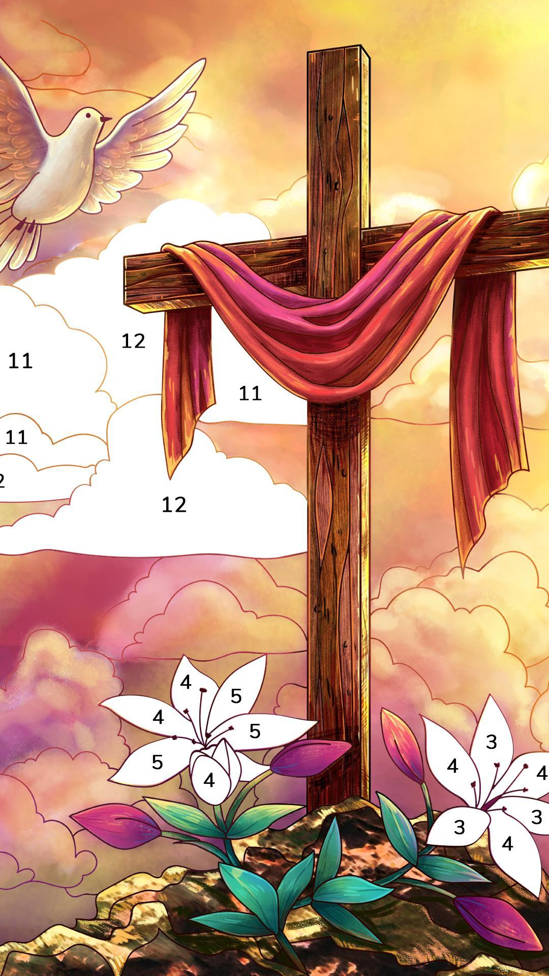 Bible Coloring Paint by Number, Free Bible Games 2.1.14 Screenshot 2