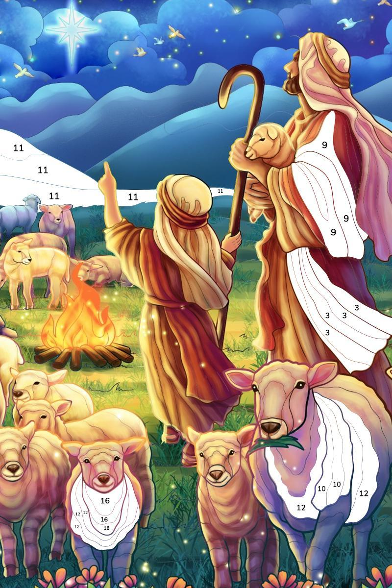 Bible Coloring Paint by Number, Free Bible Games 2.1.14 Screenshot 20