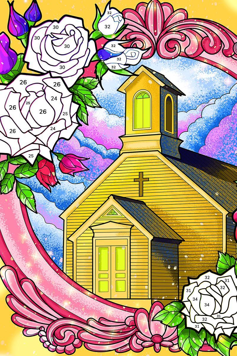 Bible Coloring Paint by Number, Free Bible Games 2.1.14 Screenshot 23