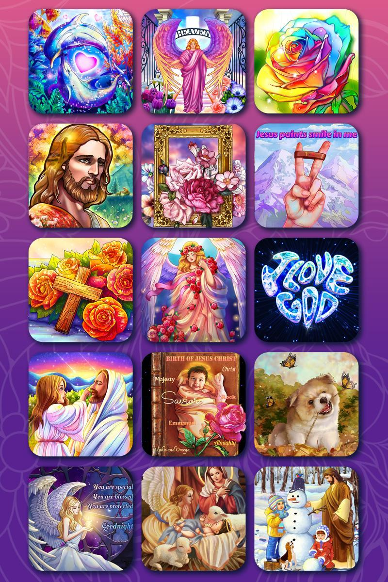 Bible Coloring Paint by Number, Free Bible Games 2.1.14 Screenshot 24