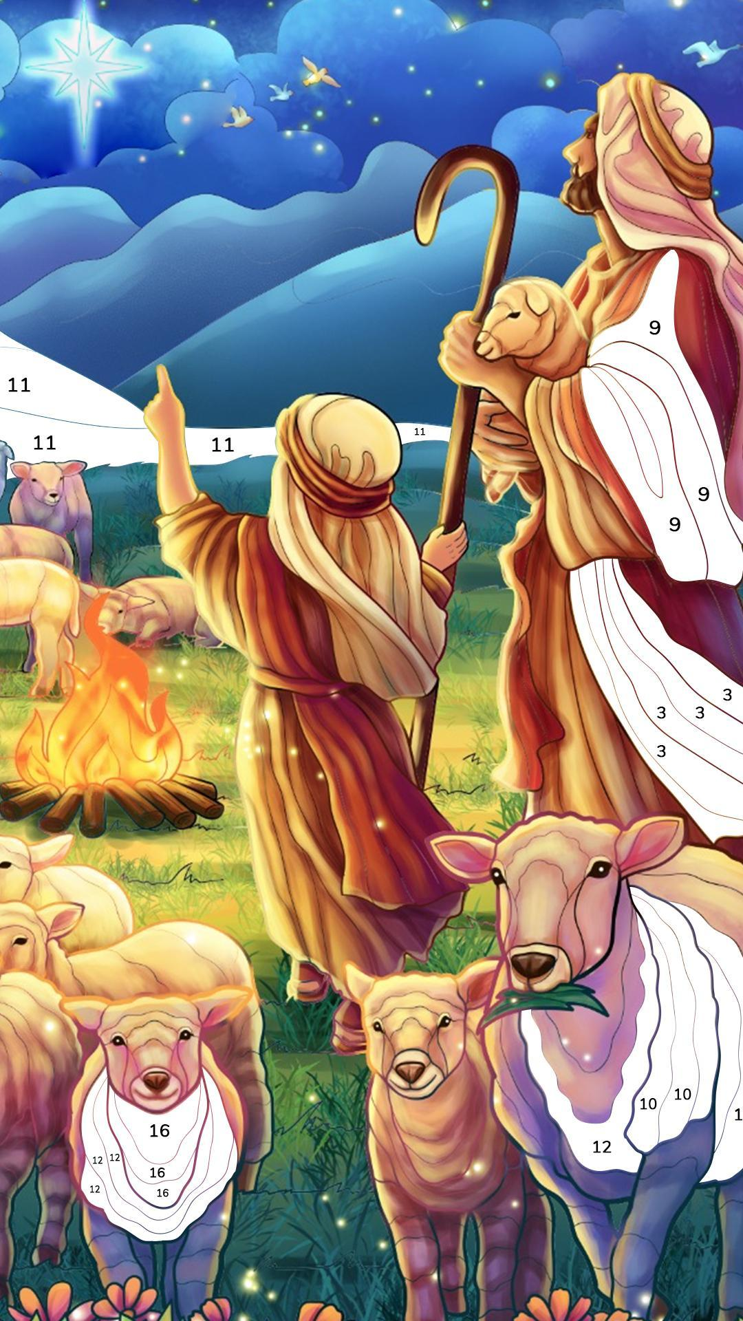 Bible Coloring Paint by Number, Free Bible Games 2.1.14 Screenshot 4