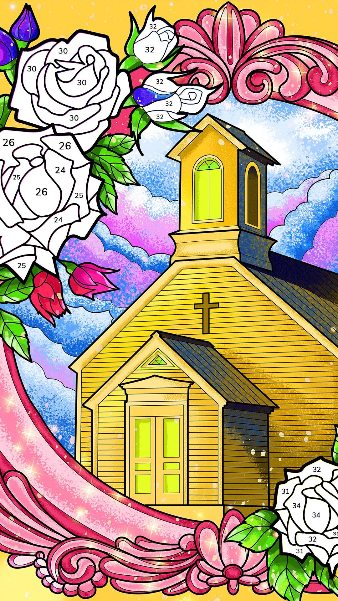 Bible Coloring Paint by Number, Free Bible Games 2.1.14 Screenshot 7