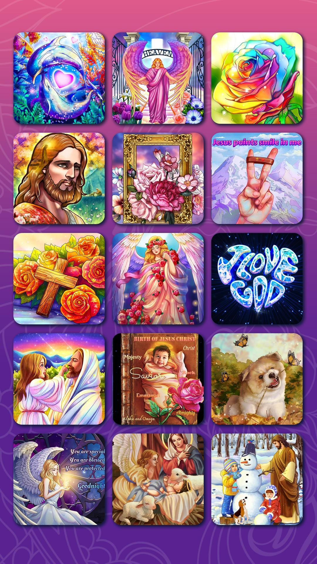 Bible Coloring Paint by Number, Free Bible Games 2.1.14 Screenshot 8