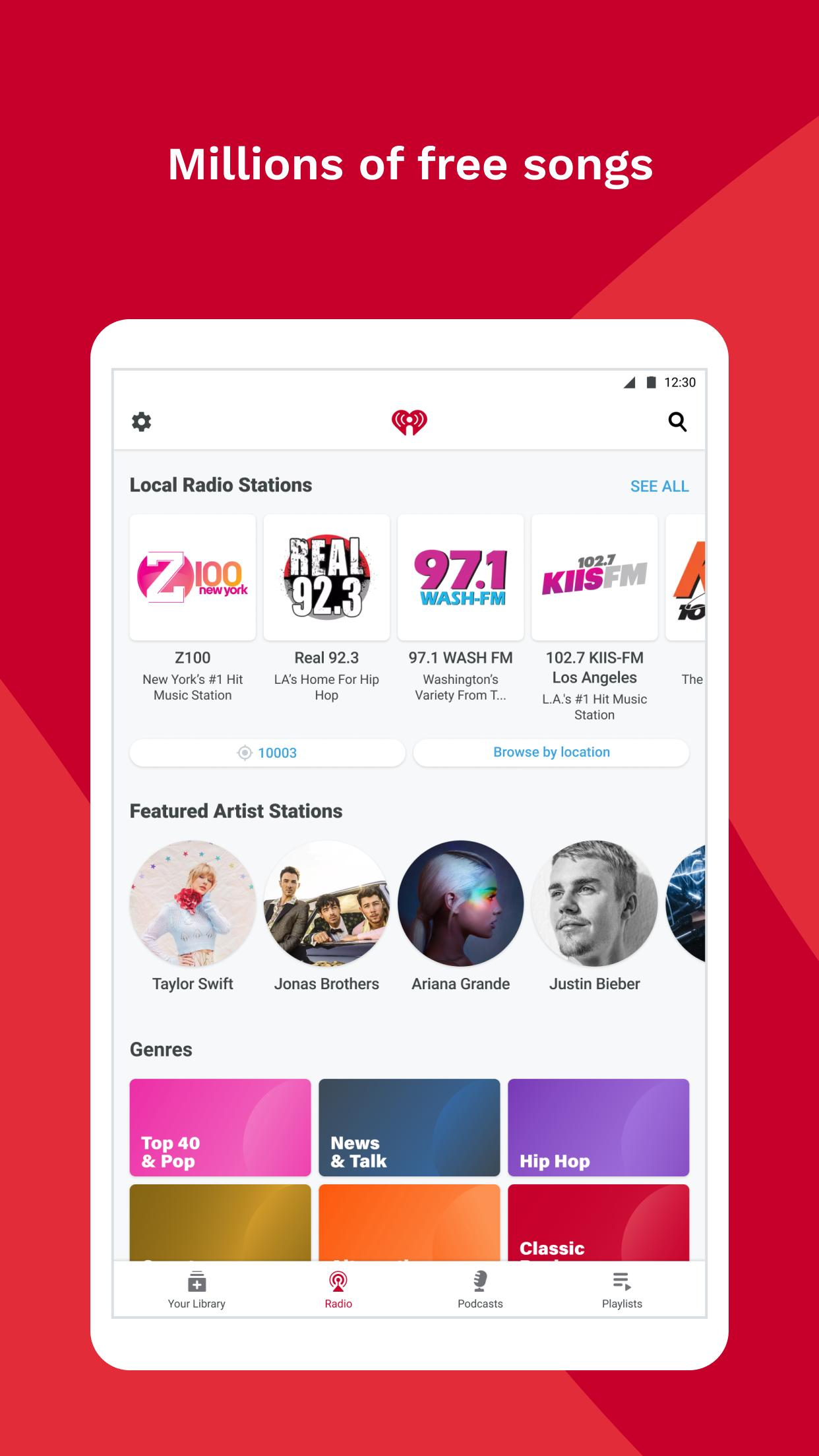 iHeartRadio Radio, Podcasts & Music On Demand 9.5.0 Screenshot 10