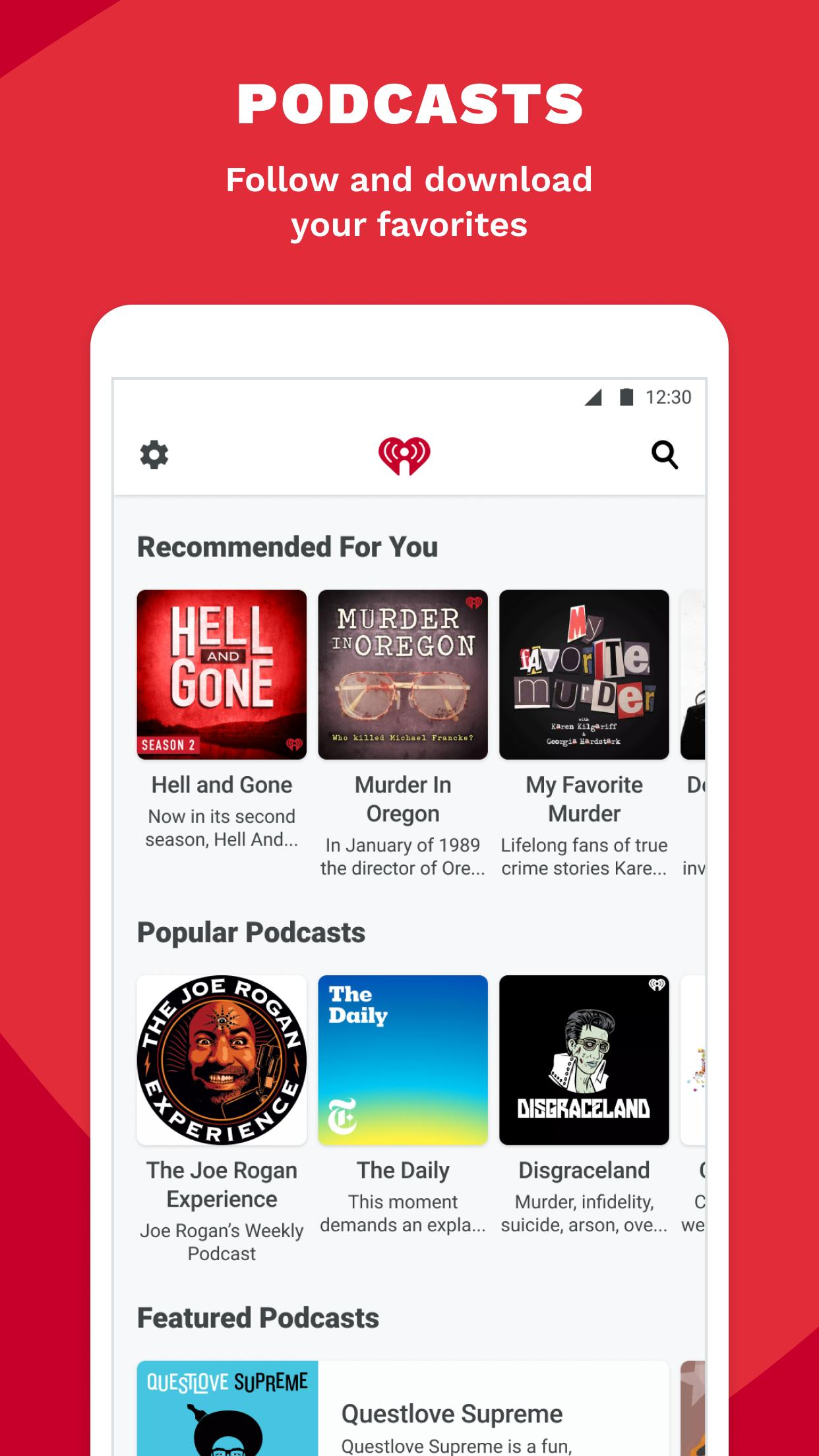 iHeartRadio Radio, Podcasts & Music On Demand 9.5.0 Screenshot 4