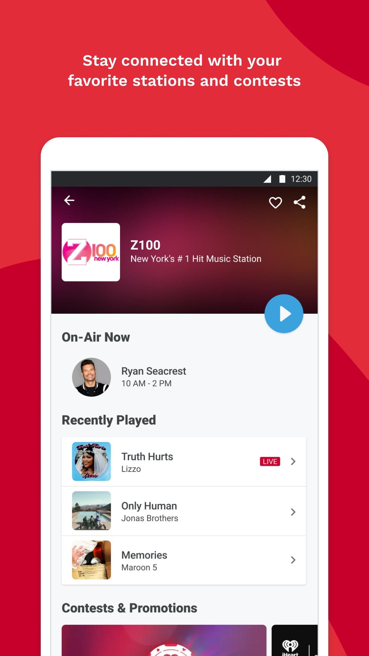 iHeartRadio Radio, Podcasts & Music On Demand 9.5.0 Screenshot 6