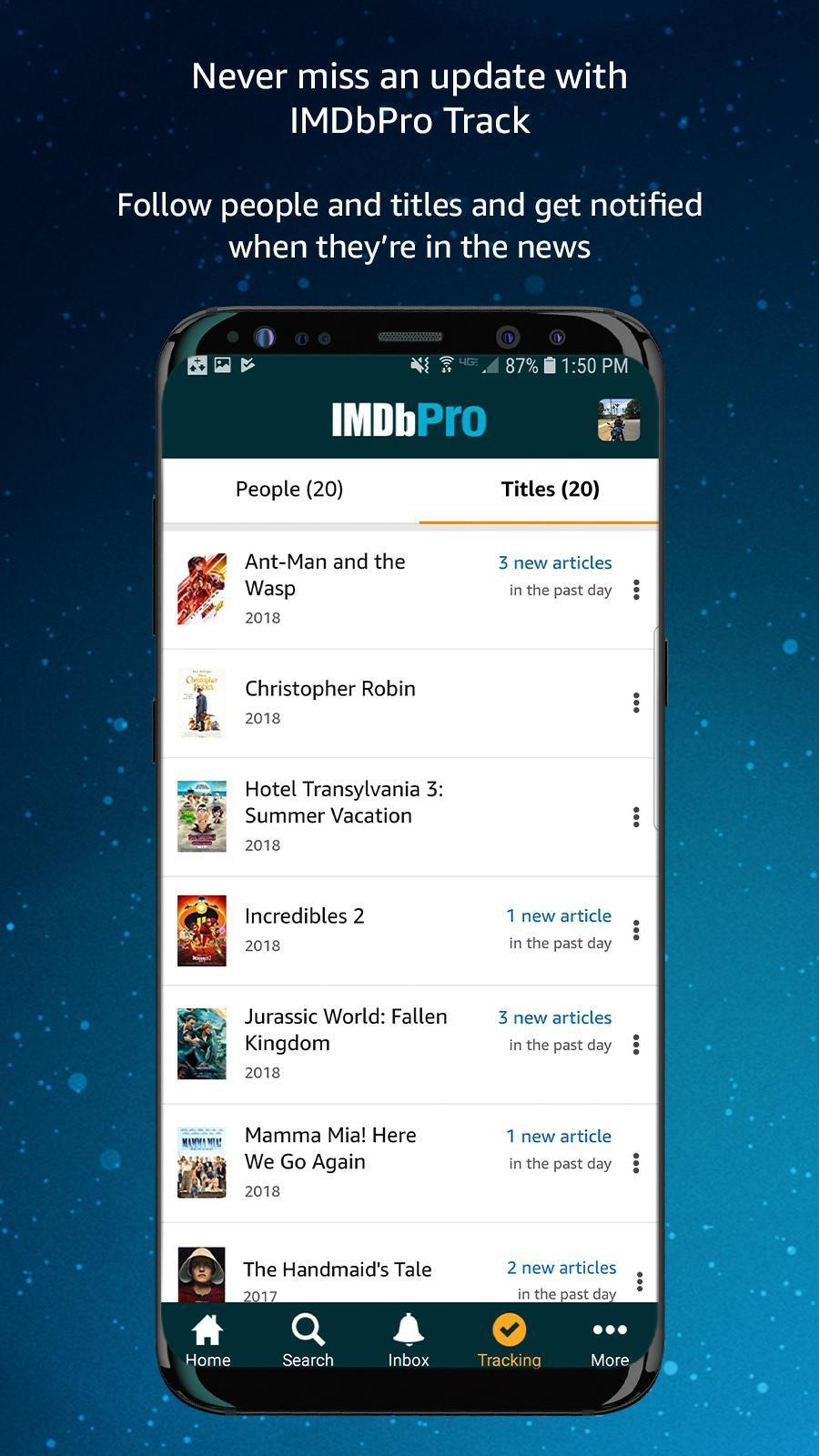 IMDbPro 1.6.2 Screenshot 4