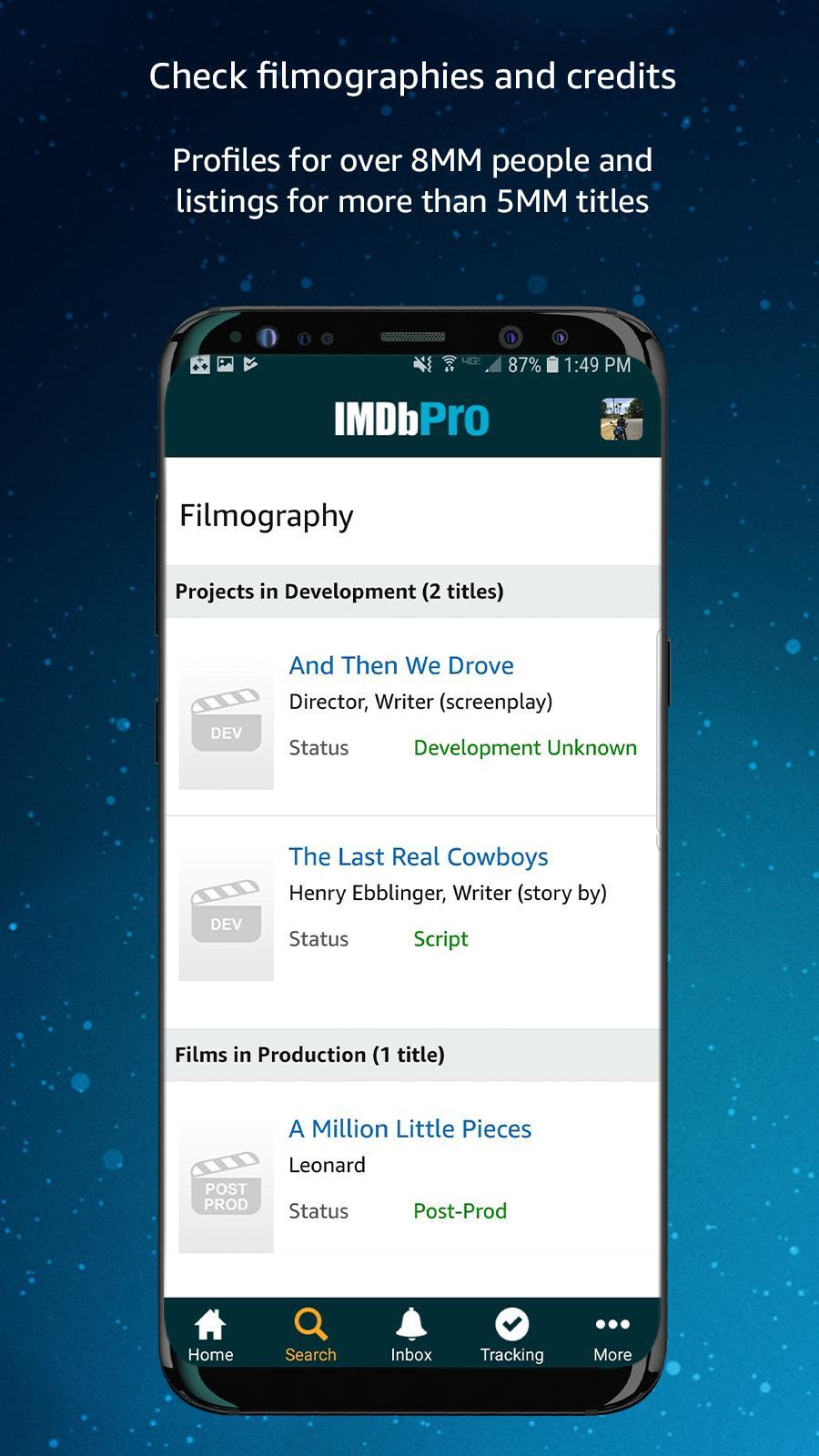 IMDbPro 1.6.2 Screenshot 5