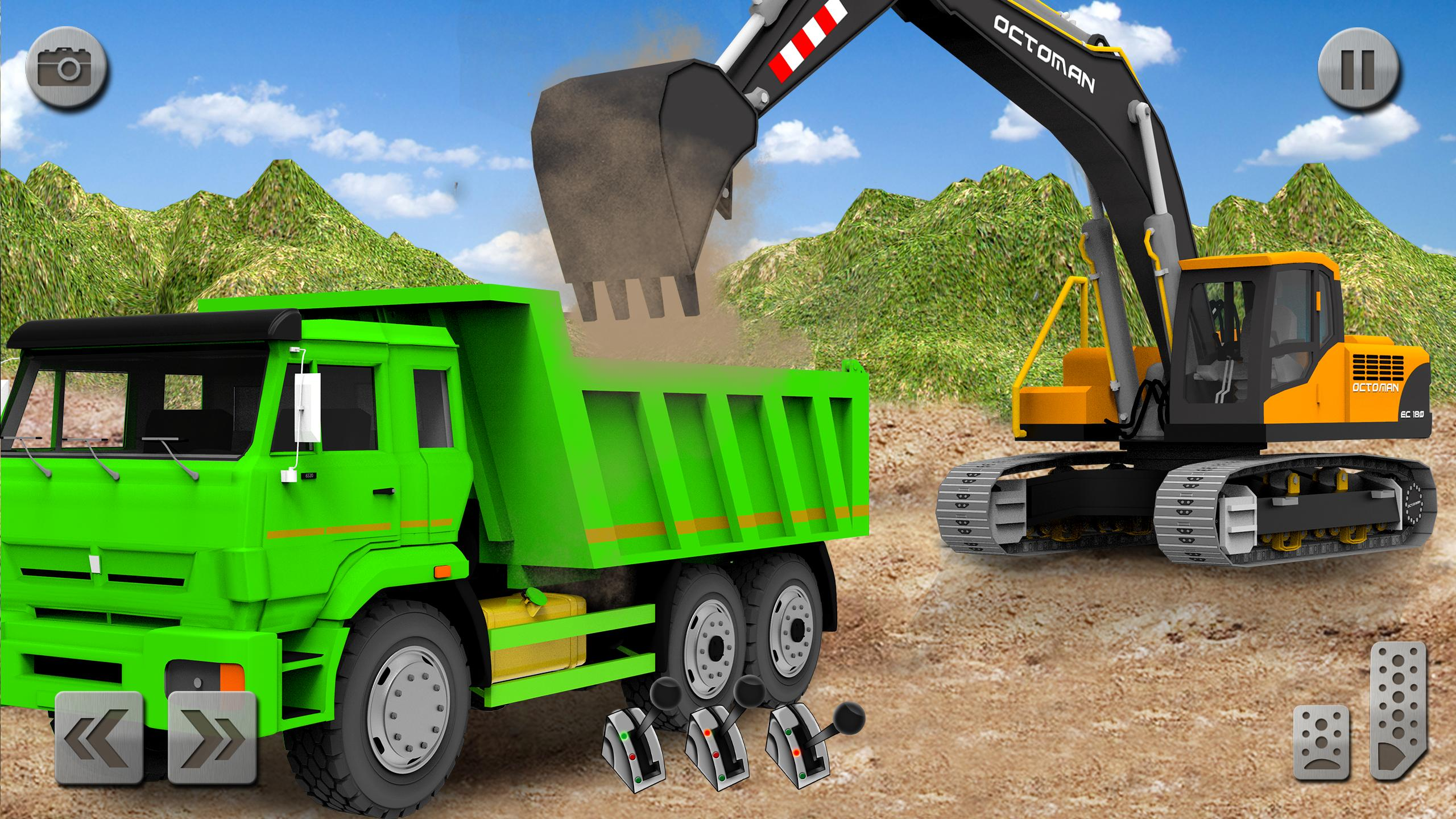 Sand Excavator Truck Driving Rescue Simulator game 5.2 Screenshot 1