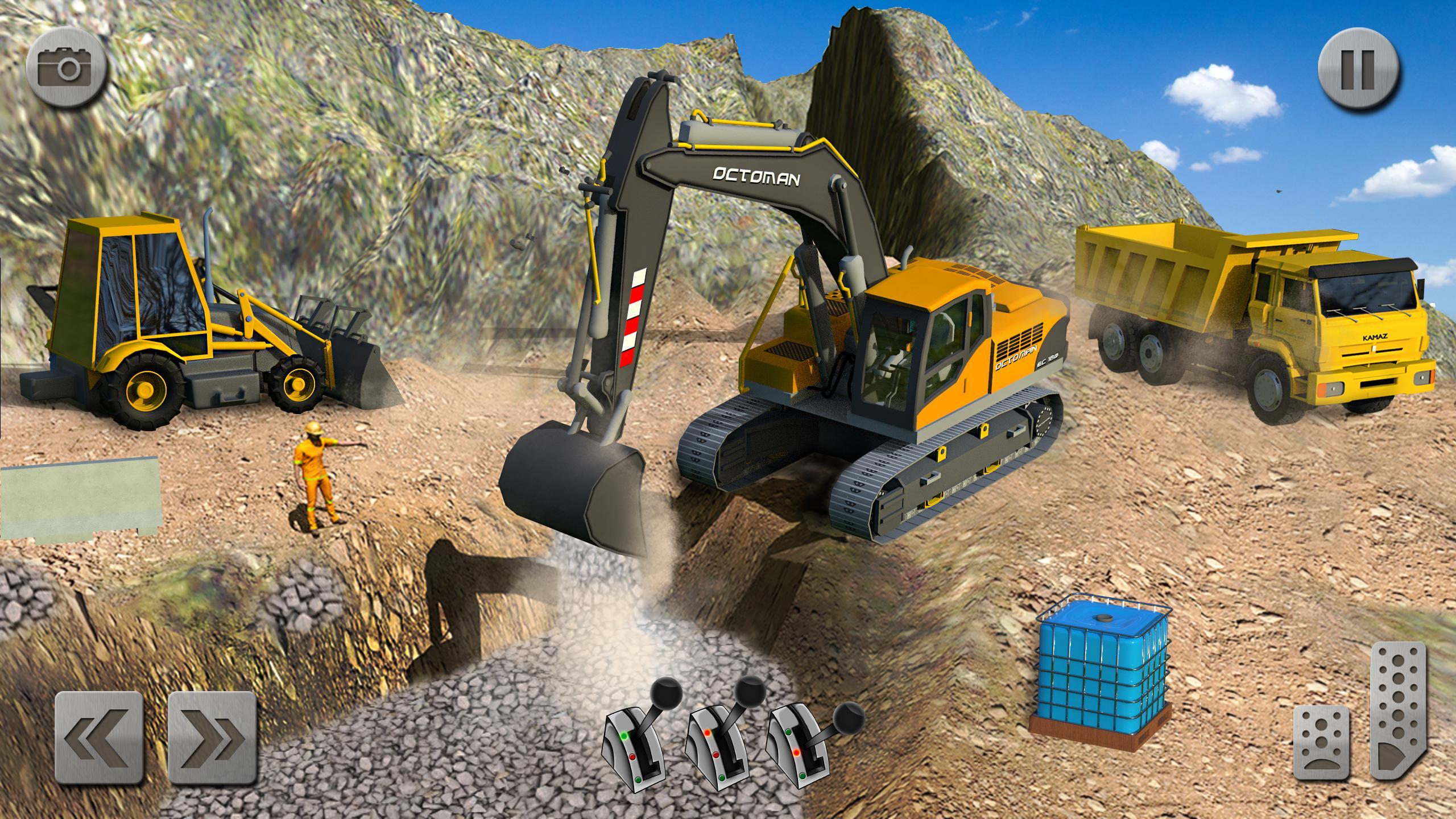 Sand Excavator Truck Driving Rescue Simulator game 5.2 Screenshot 3
