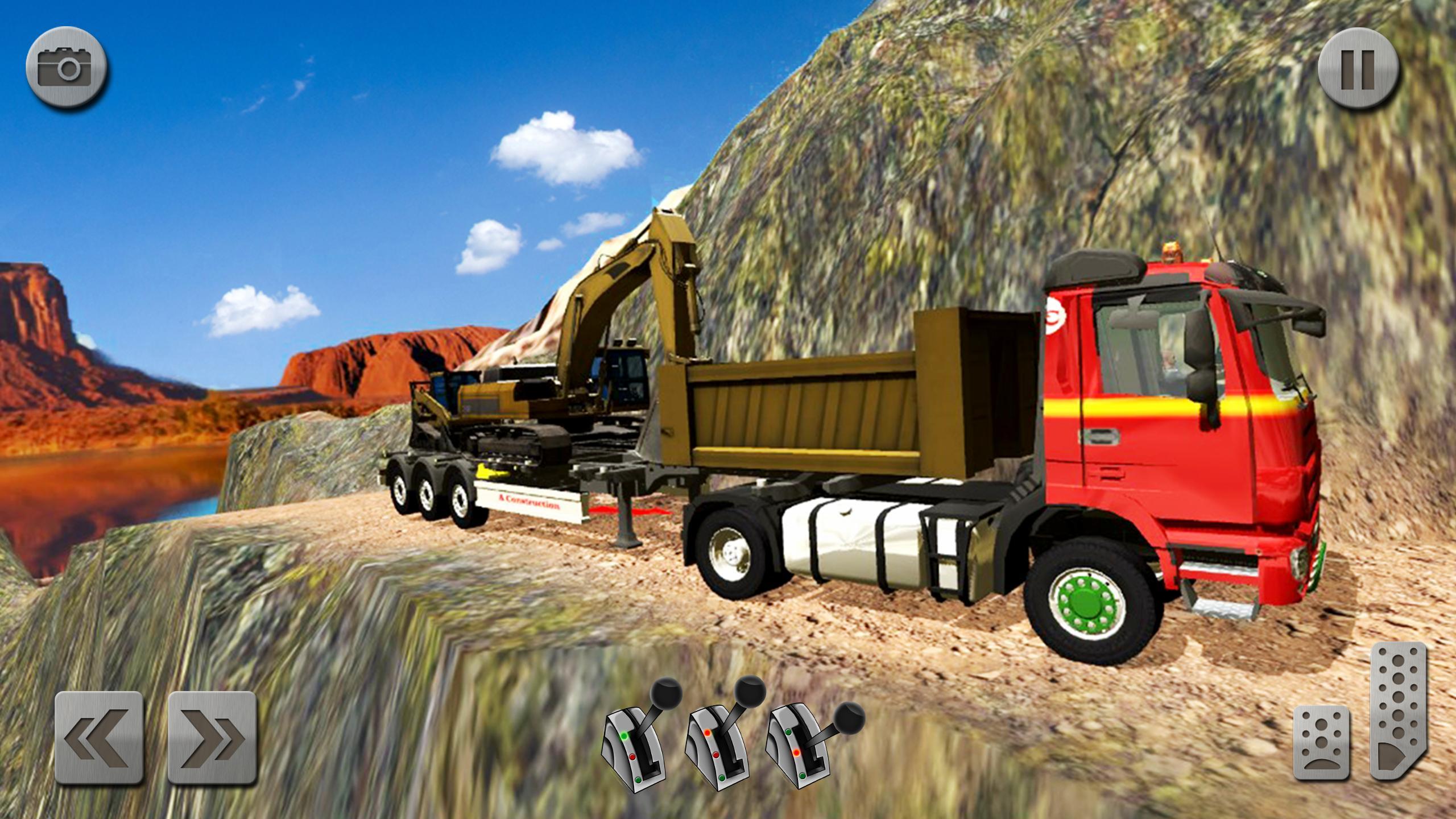 Sand Excavator Truck Driving Rescue Simulator game 5.2 Screenshot 5